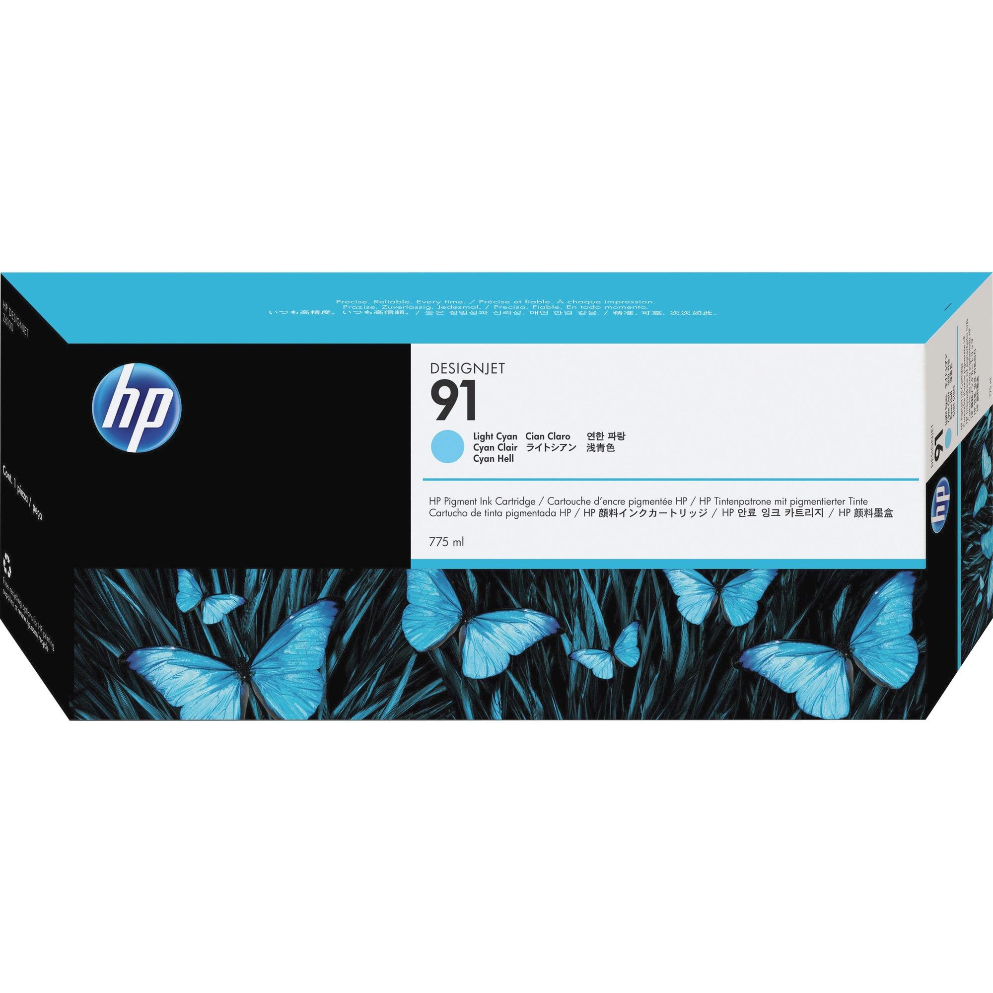HP No. 91 Ink Cartridge - Light Cyan - C9470A