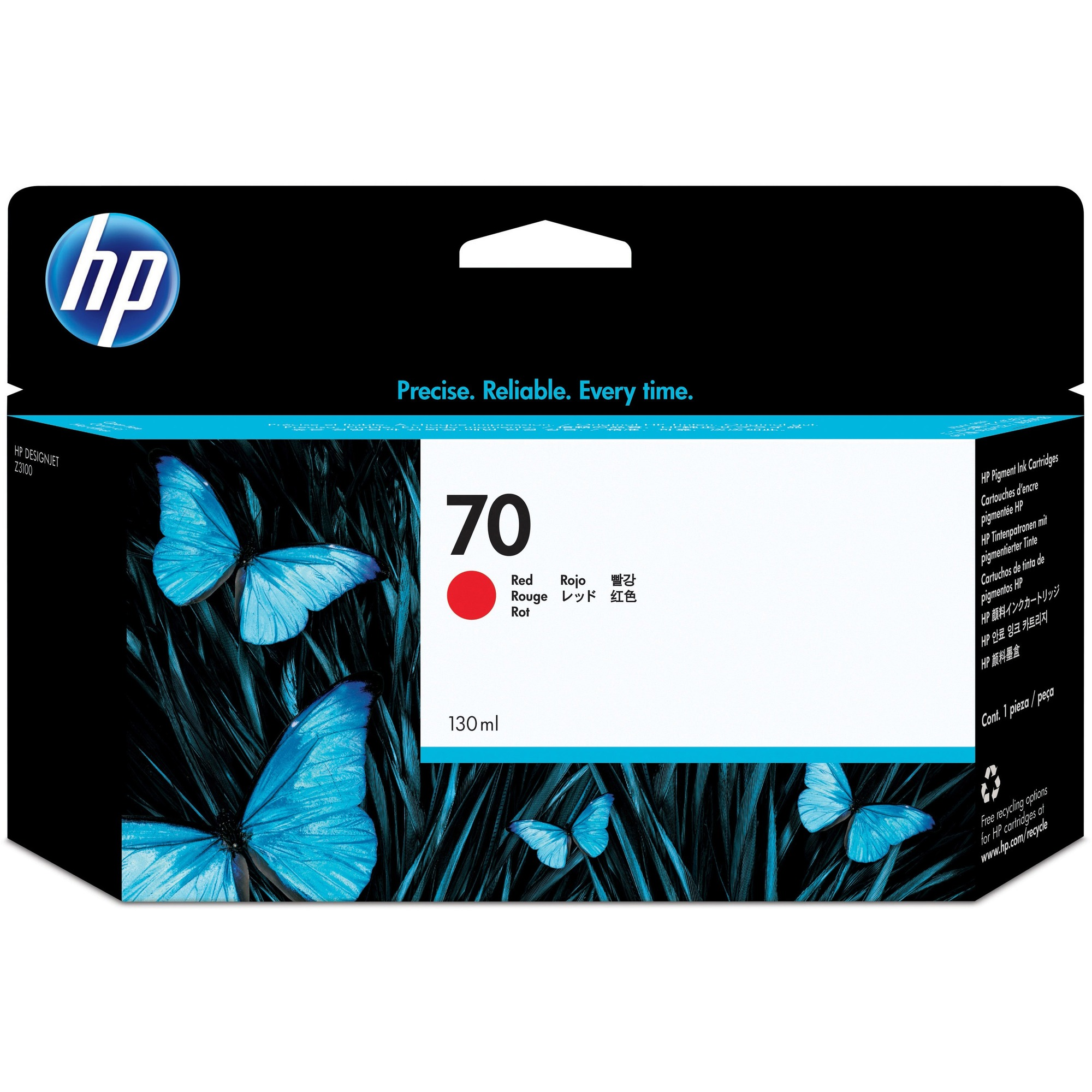 HP No. 70 Ink Cartridge - Red