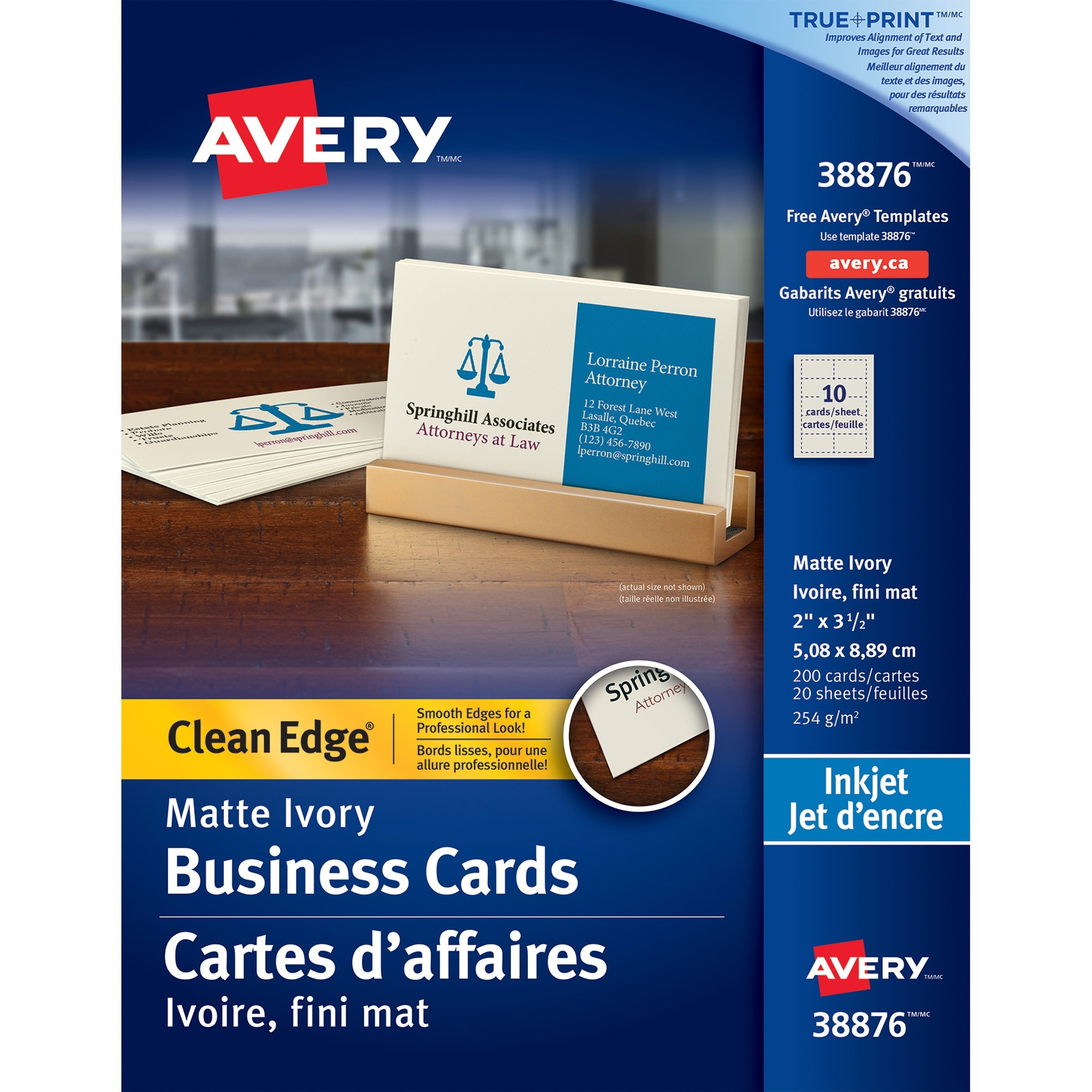 Kamloops office systems office supplies paper pads cards avery business card 2 x 3 12 0 recycled content 200 pack ivory colourmoves