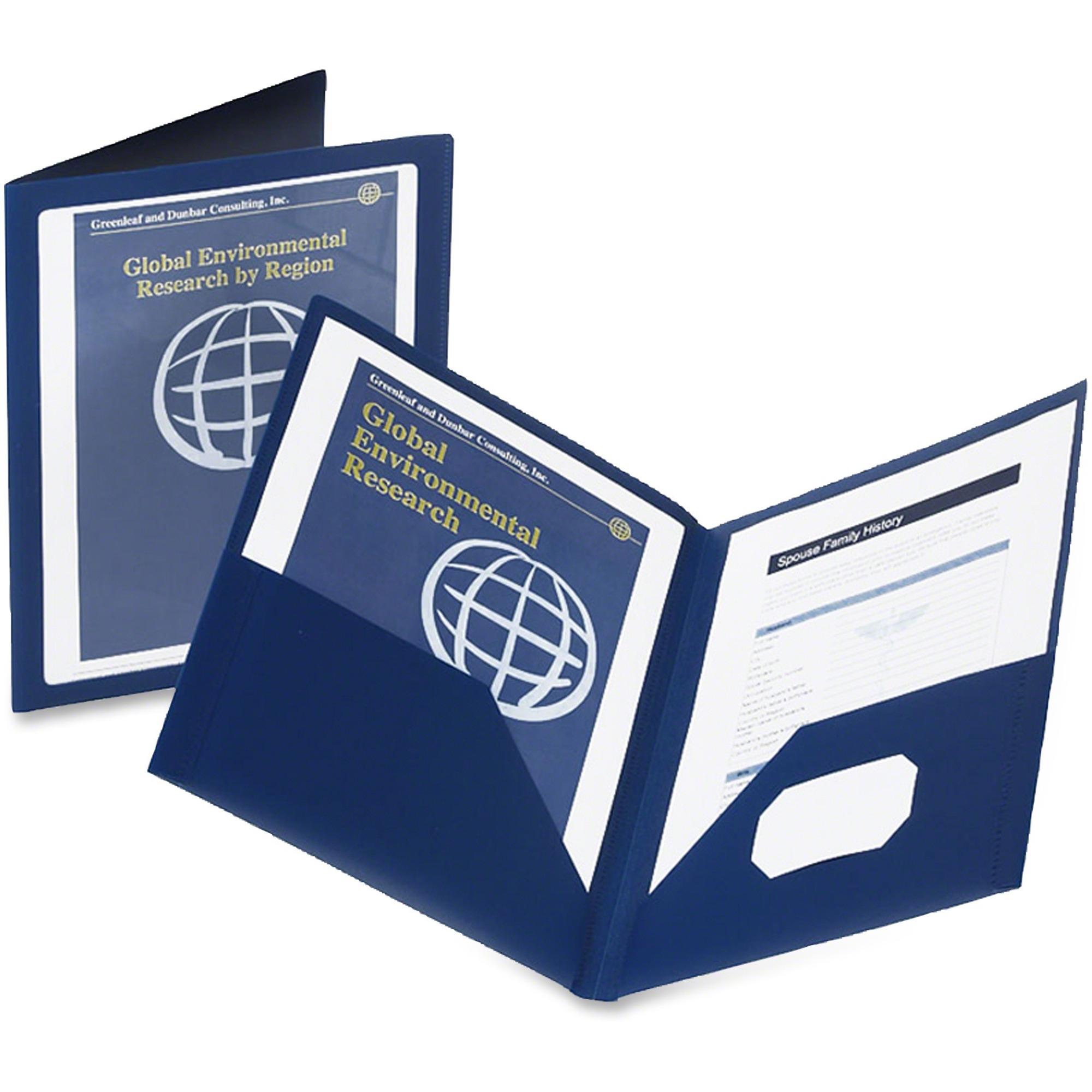 Oxford Viewfolio Pocket Portfolio Letter 8 1 2 X 11 Sheet Size 100 Capacity S Blue Each