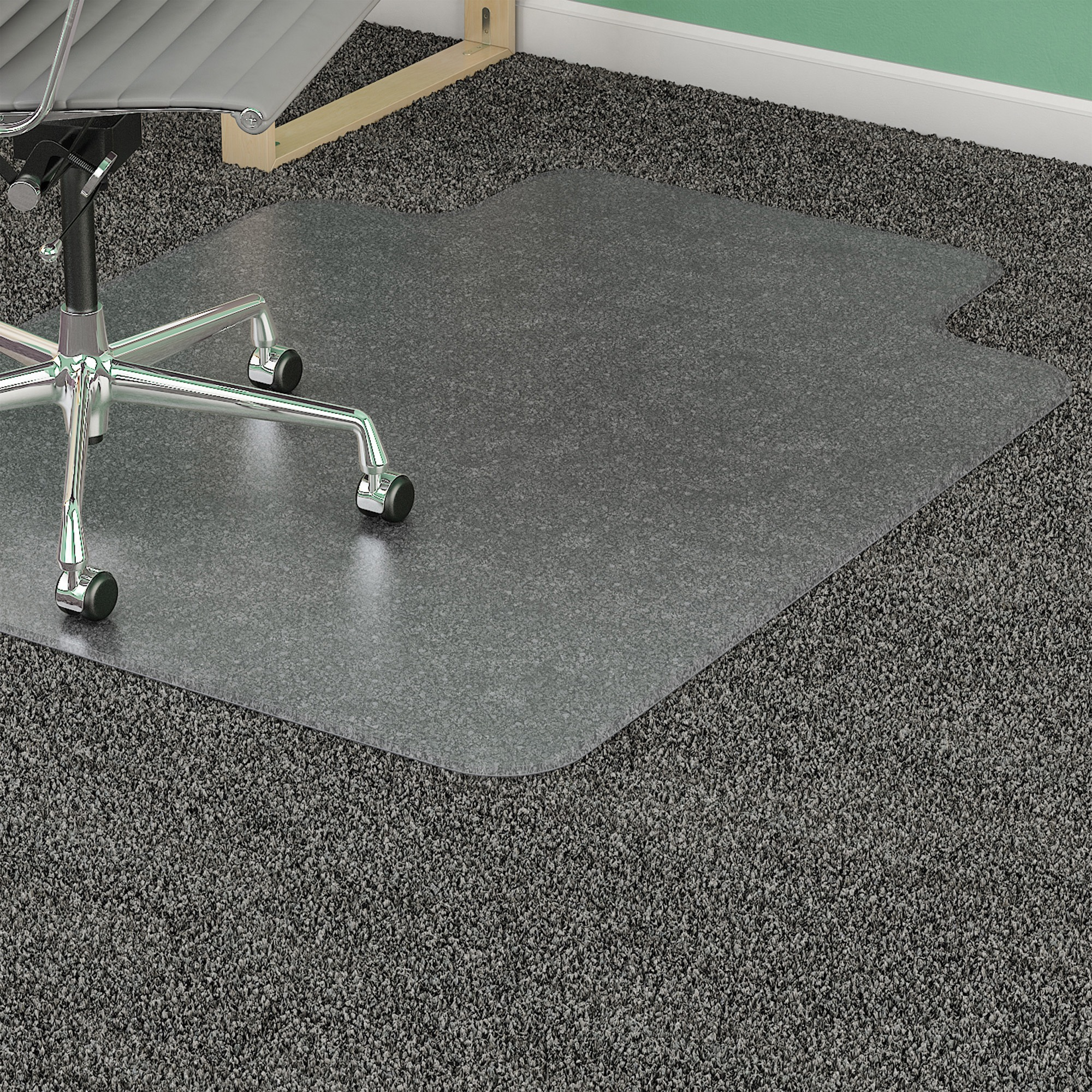 chair mat with lip. Lorell Low Pile Wide Lip Antistatic Chairmat - Carpeted Floor 60\ Chair Mat With