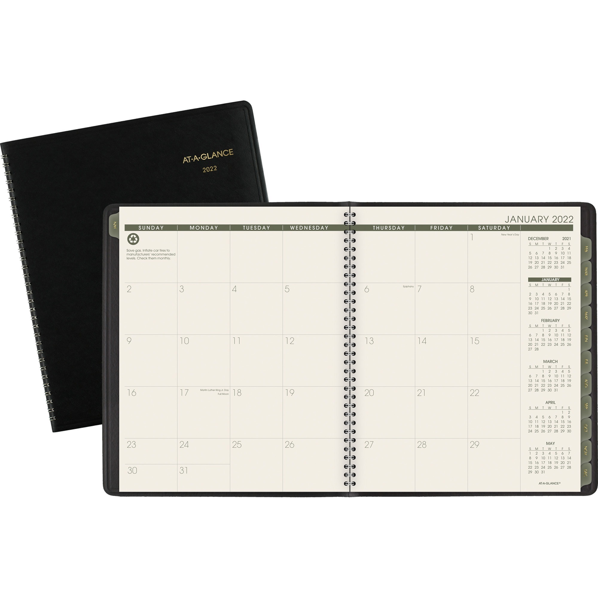 At-A-Glance 100% PCW Monthly Planner - Yes - Monthly - January 2020 till January 2021 - 9