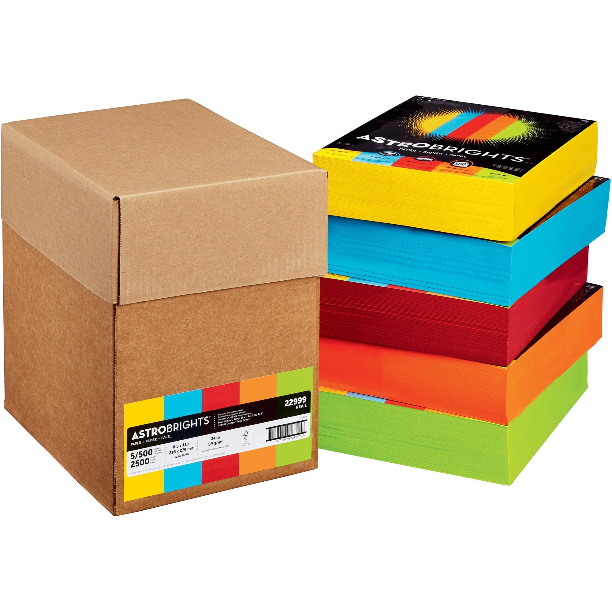 Product WAU22999 Astrobrights Inkjet Laser Print Colored Paper