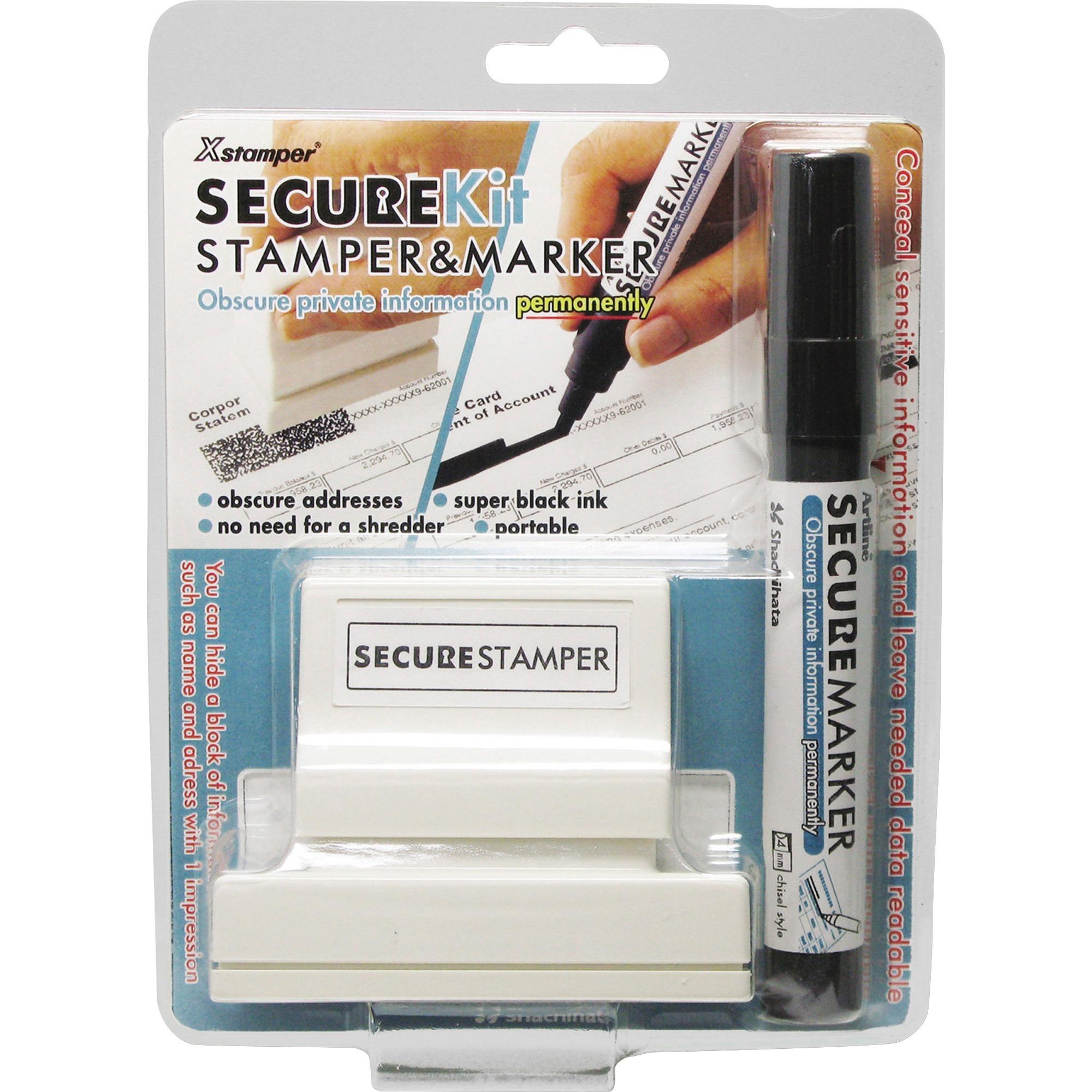 "Xstamper Secure Privacy Stamp Kit xst35303 1/"" Impression Width X 2.65/"""