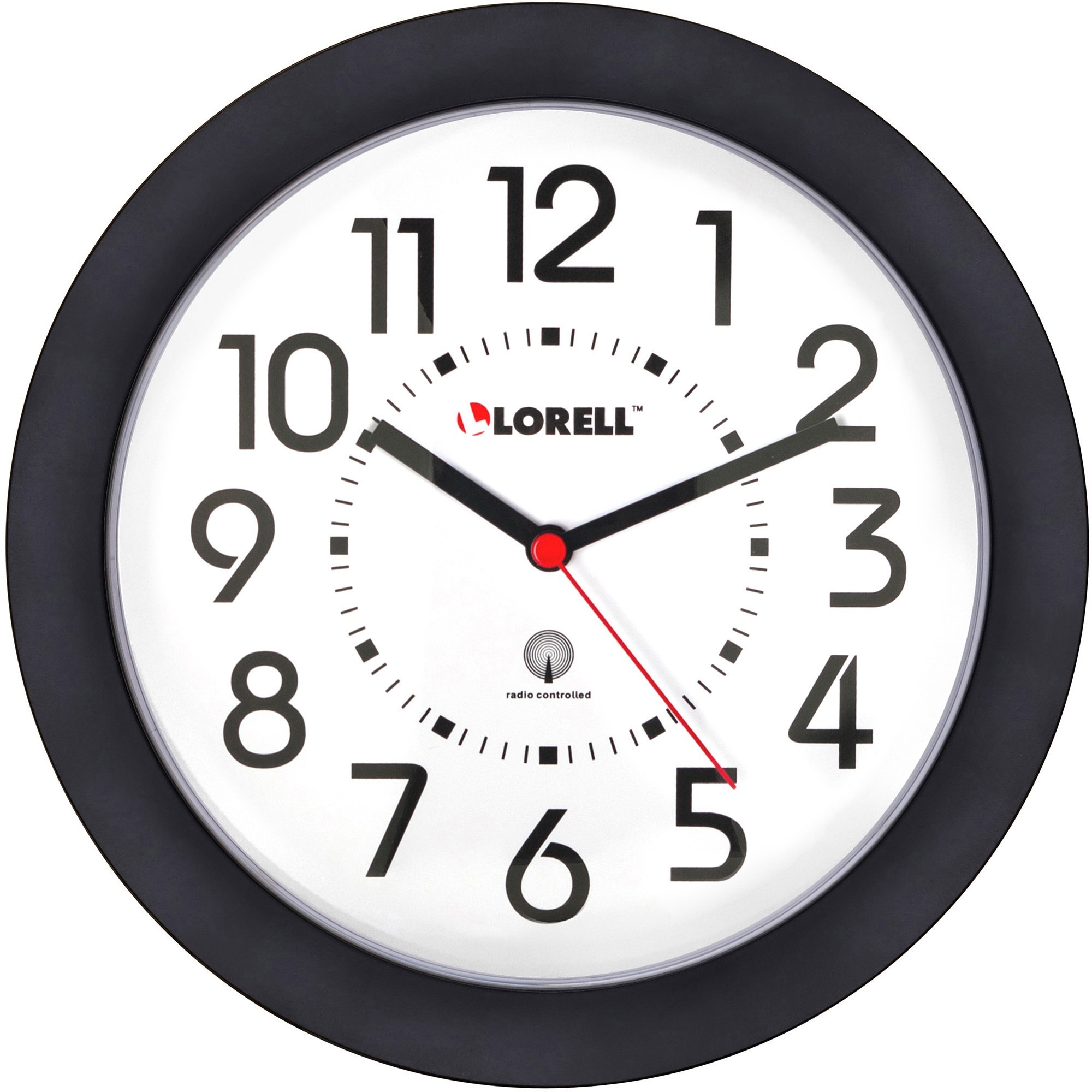 Llr 60990 Lorell 9 Quot Radio Controlled Profile Wall Clock