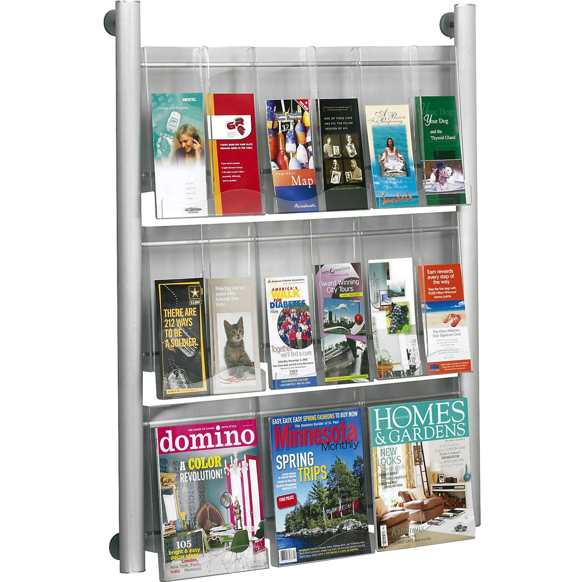 business rack display icc mount original products pamphlet magazine safco brochure wall