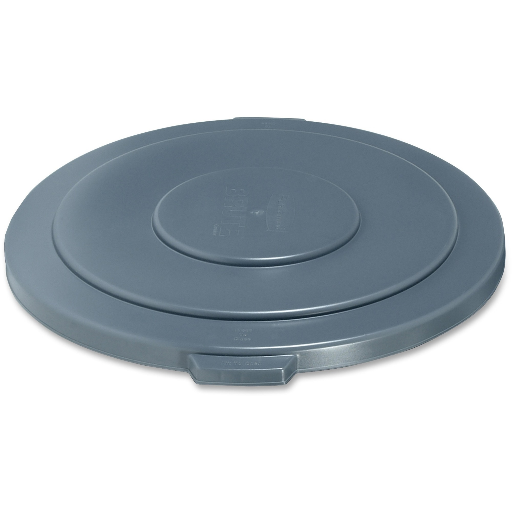 Rubbermaid Commercial Products Rubbermaid Commercial Brute 55-gallon  Container Lid - Round - Plastic, High-density Polyethylene (Hdpe) - 1 Each  - Gray