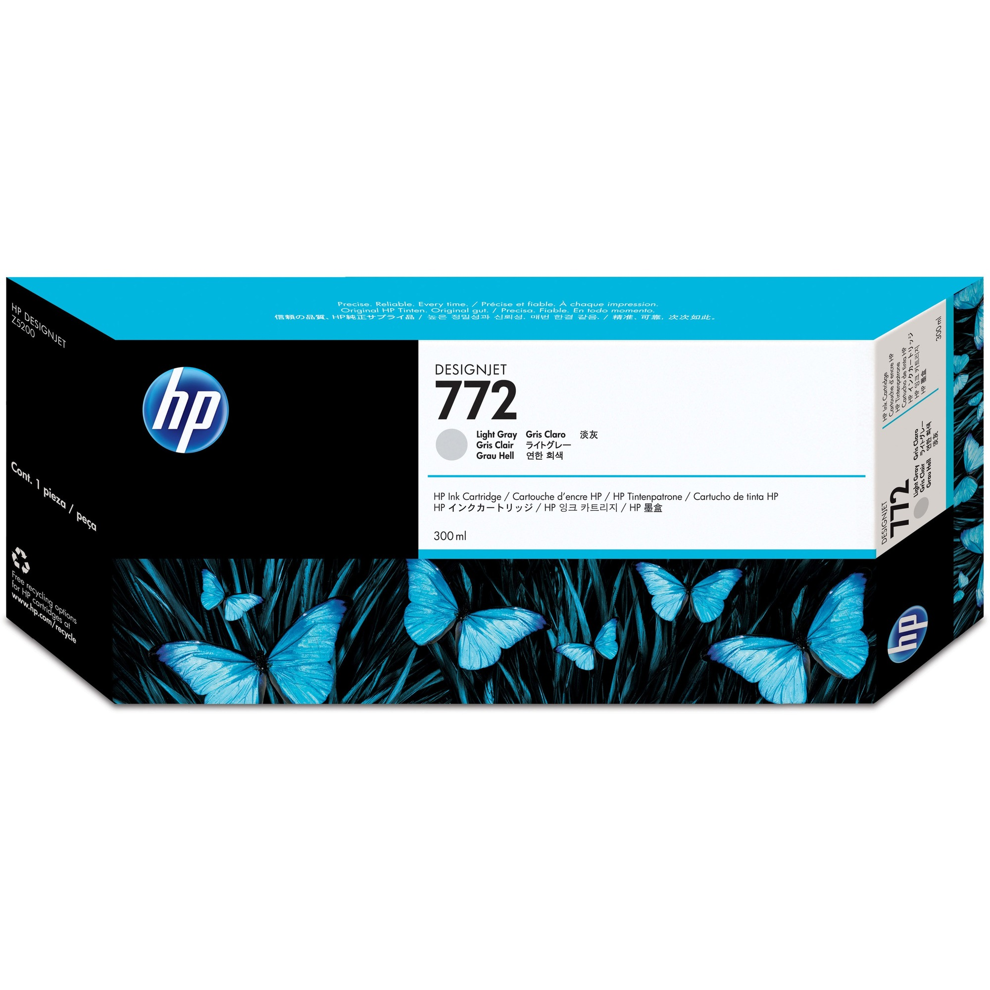 HP No. 772 Ink Cartridge - Light Grey