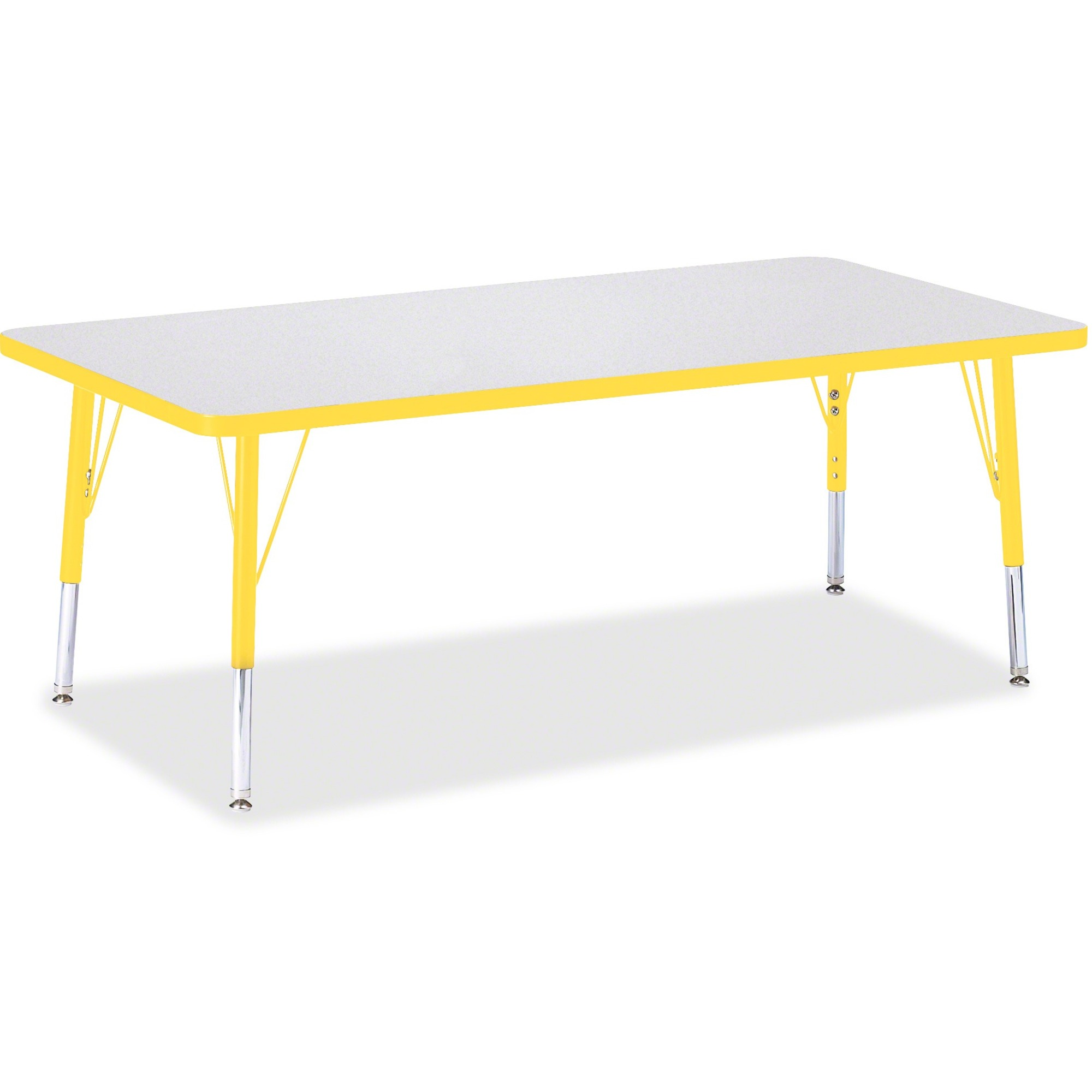 Jonti Craft Inc Berries Toddler Height Prism Edge Rectangle Table Rectangle Top Four Leg Base 4 Legs 60 Table Top Length X 30 Table Top Width