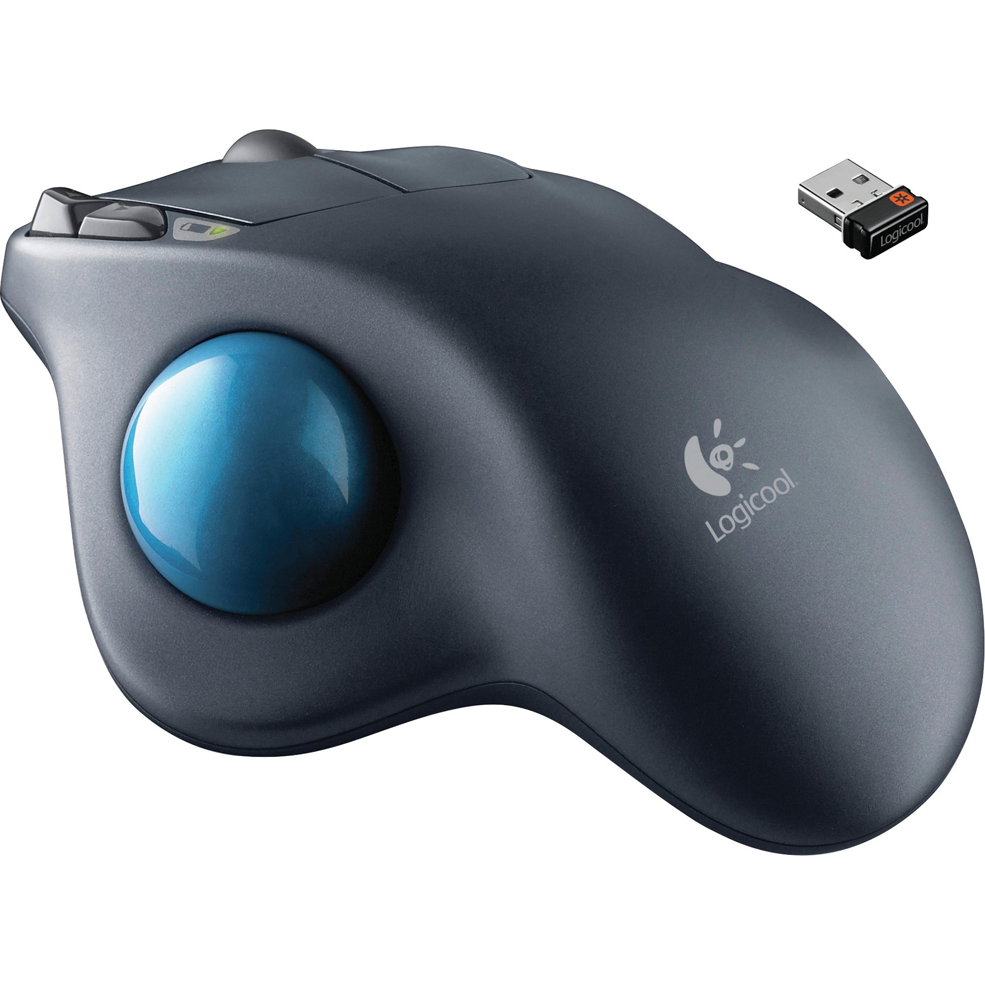 fe6e1af1525 Logitech M570 Wireless Trackball Mouse - Laser - Wireless - Radio Frequency  - Dark Gray - USB - Scroll Wheel