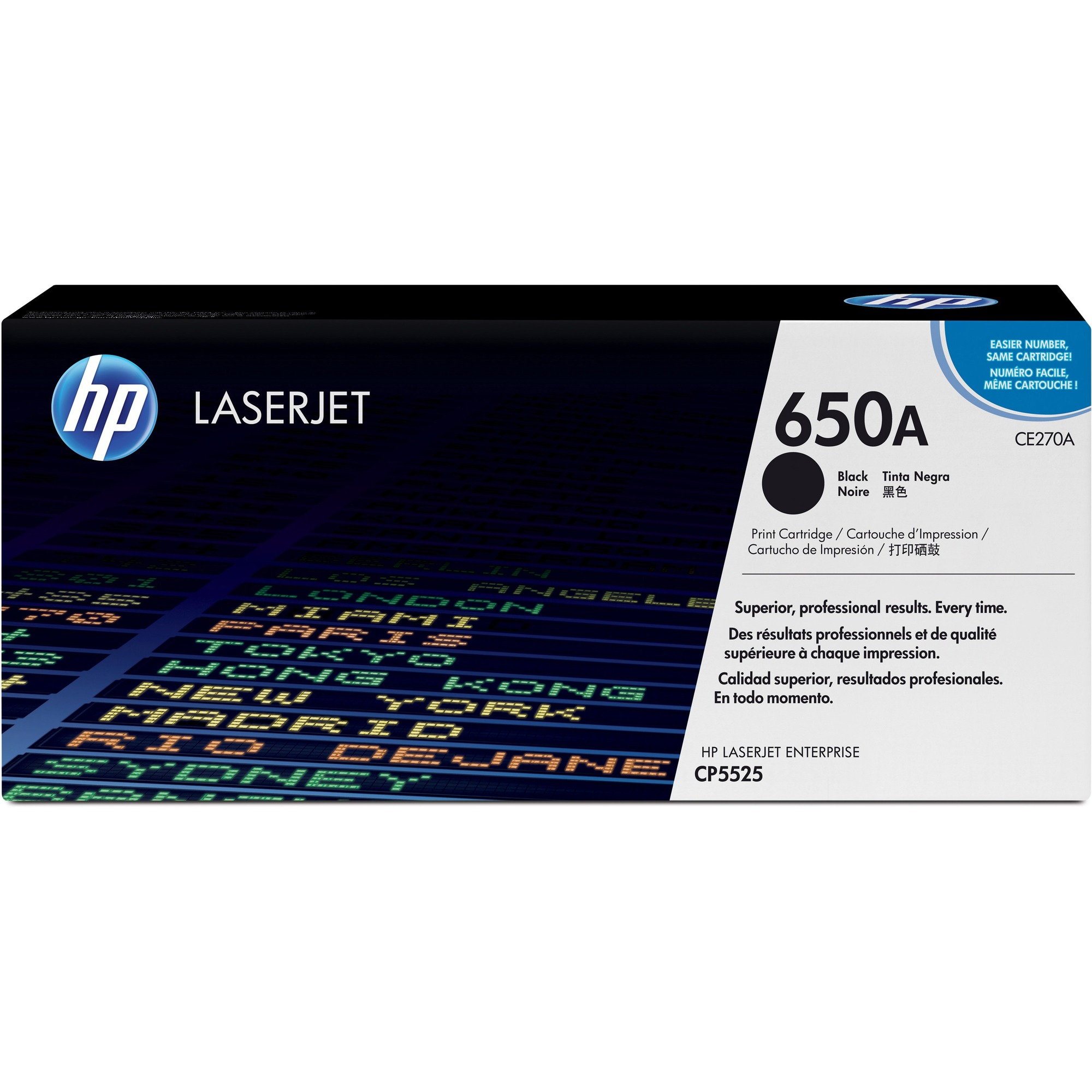 HP 650A Toner Cartridge - Black