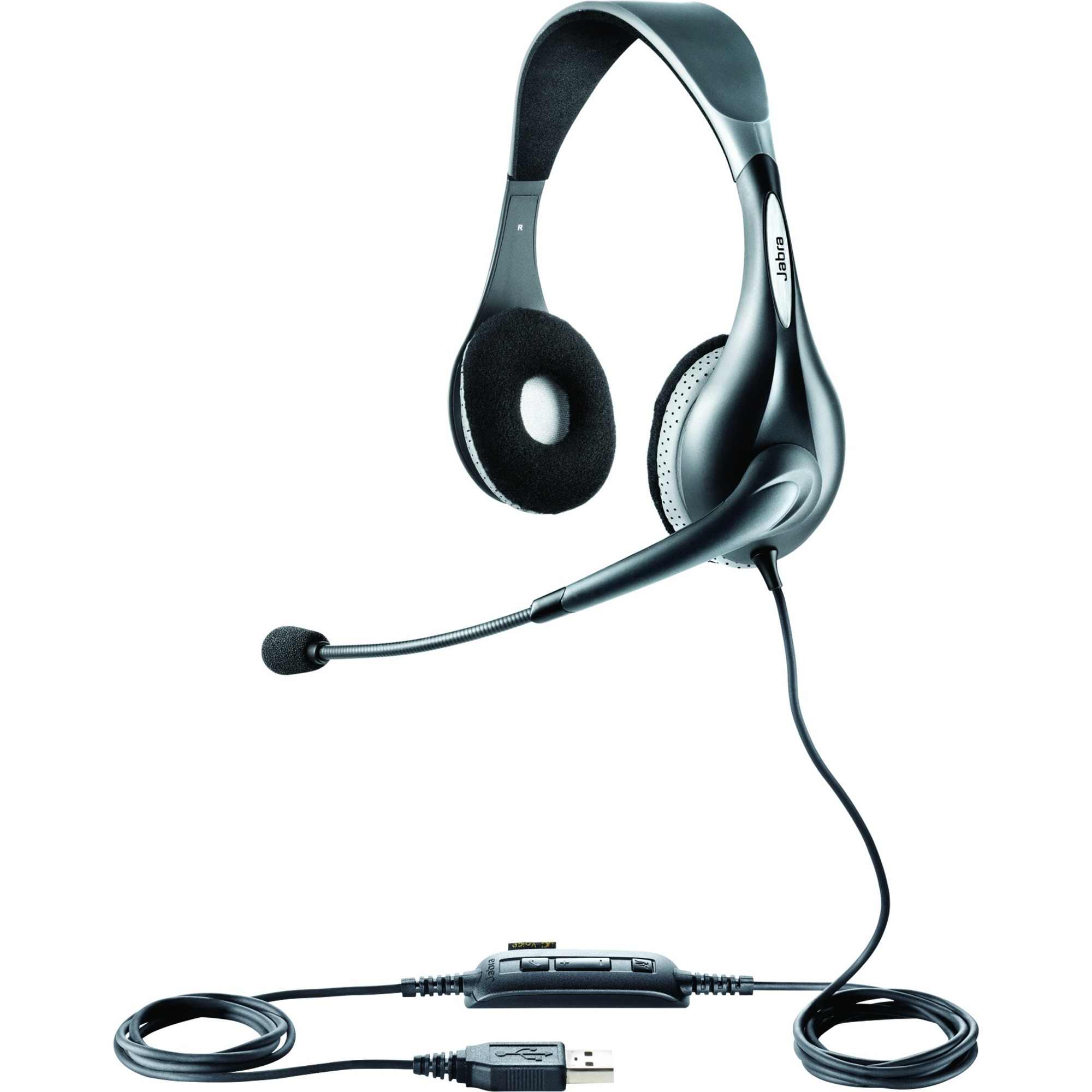 Jabra UC Voice 150 Wired Stereo Headset - Over-the-head - Semi-open - 6 Hz - 6.80 kHz - USB