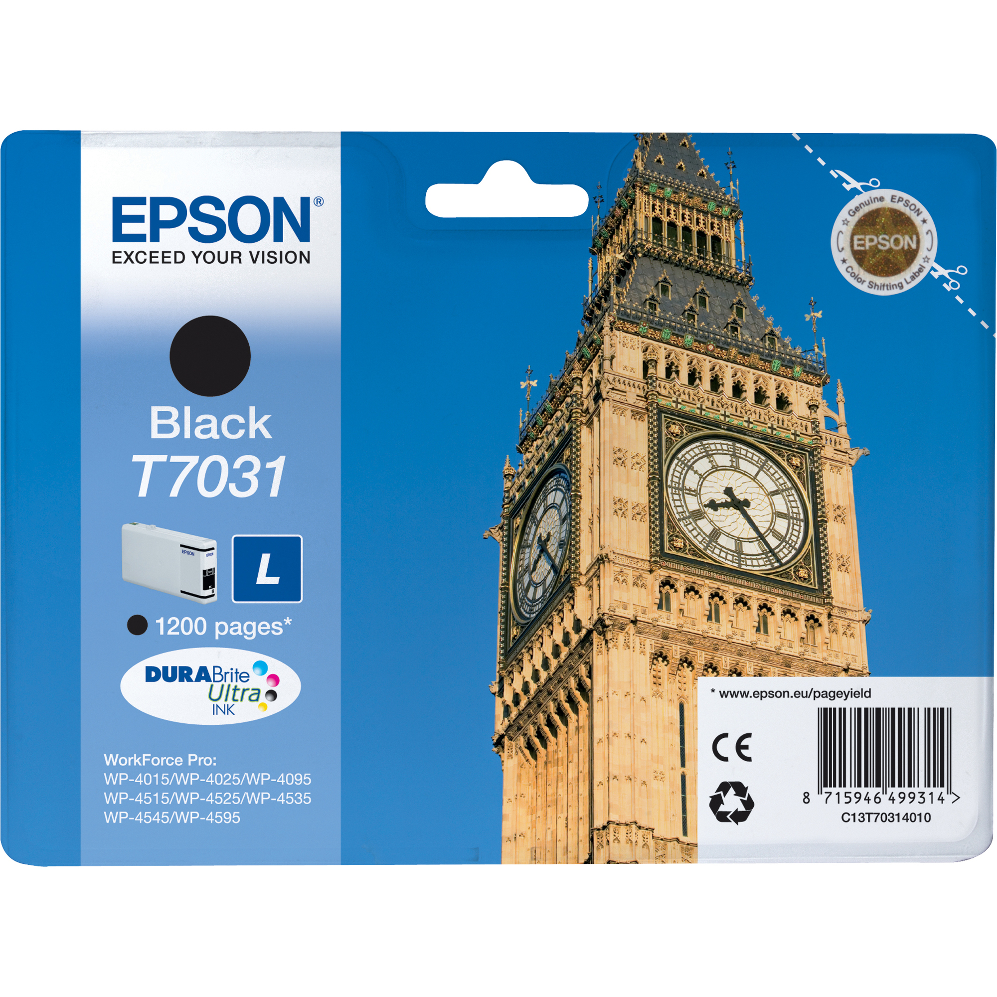 Epson DURABrite Ultra C13T70314010 Ink Cartridge - Black