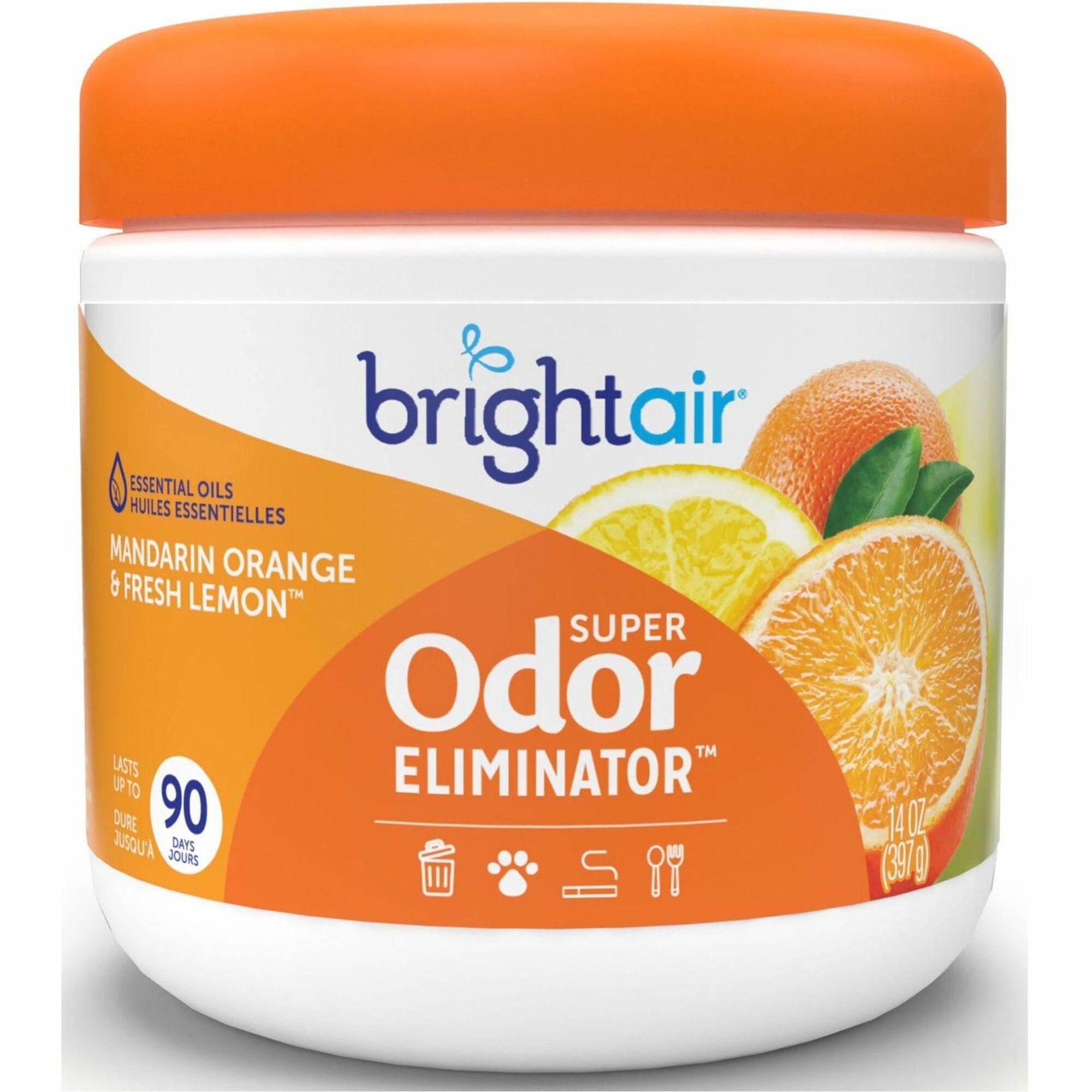 office air freshener. Bright Air Super Odor Eliminator Freshener - 396.9 G Mandarin Orange, Fresh Lemon 60 Day 1 Each Office S