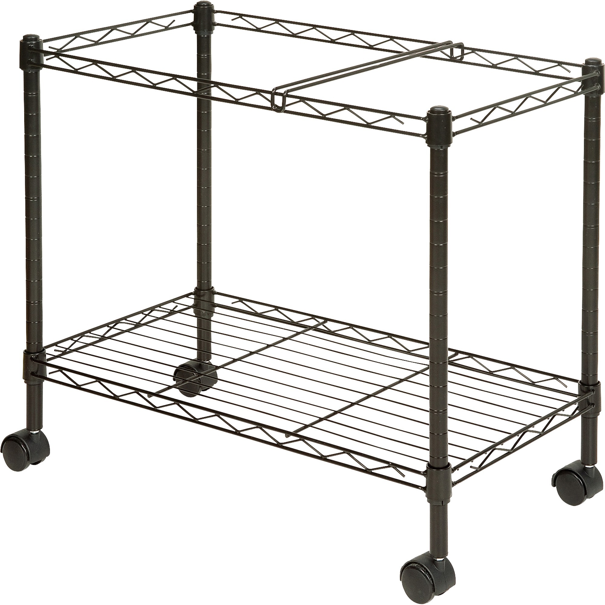 Lorell Mobile File Cart 4 Casters Steel 12 9 Width X 25 8 Depth 20 5 Height Black
