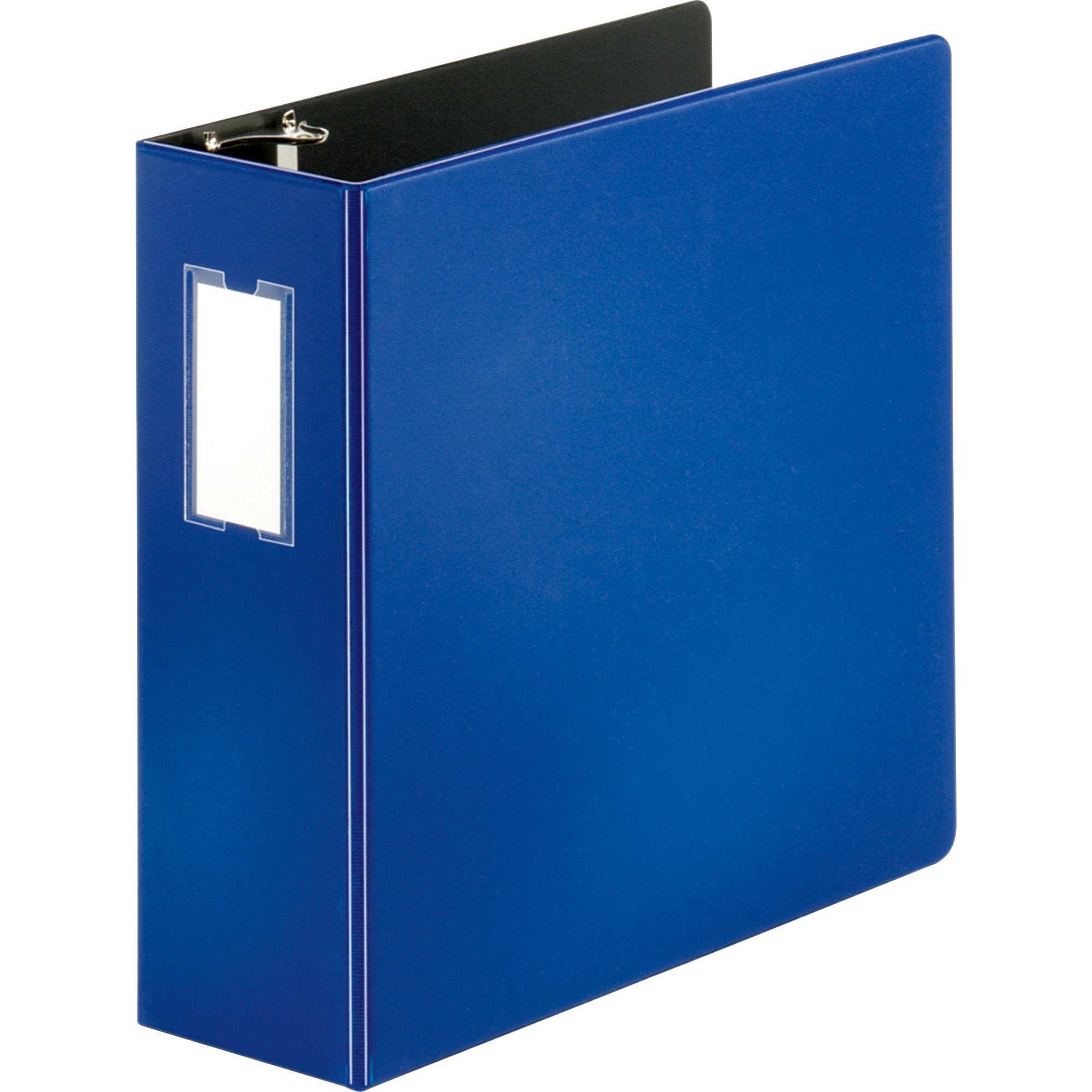 Business Source Slanted D Ring Binders 4 Binder Capacity 3 X Fastener S 2 Internal Pocket Chipboard Polypropylene Blue 1 Each