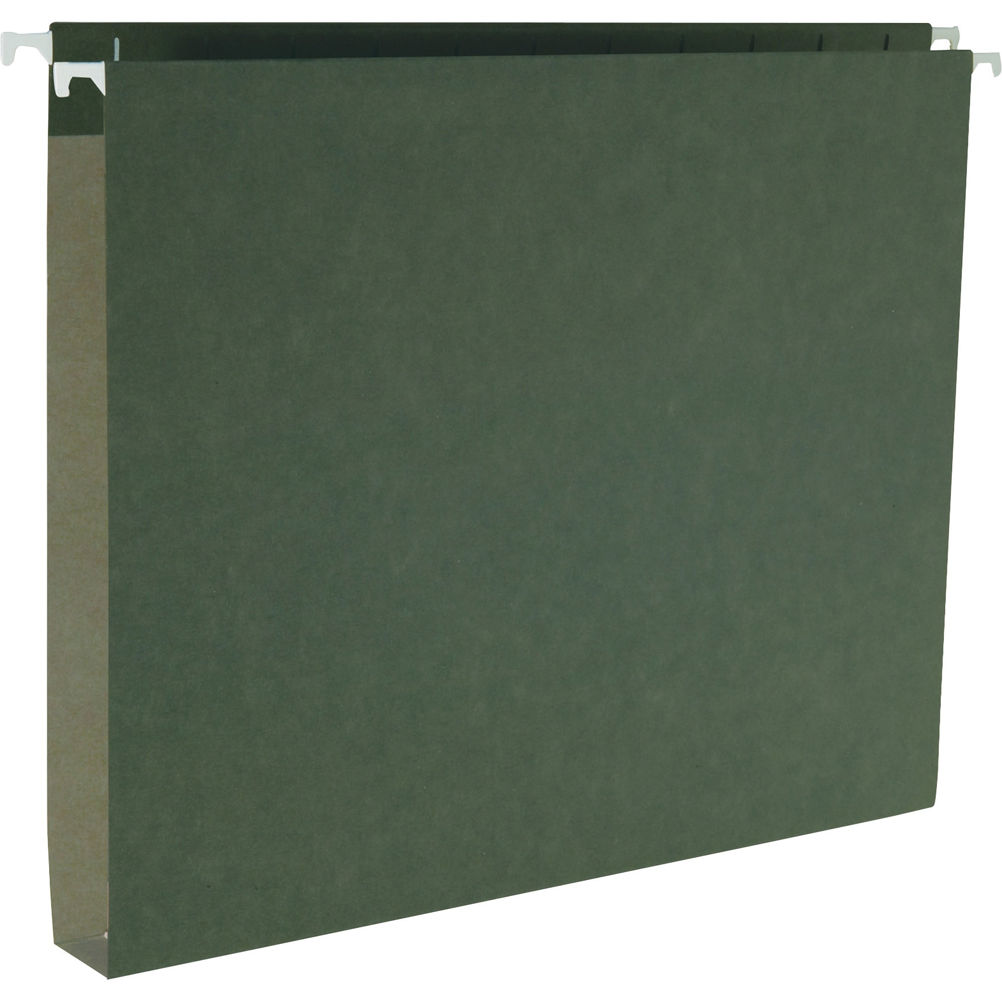Business Source Hanging Box Bottom File Folders Letter 8 1 2 X 11 Sheet Size Expansion 5 Tab Cut Standard Green Recycled 25