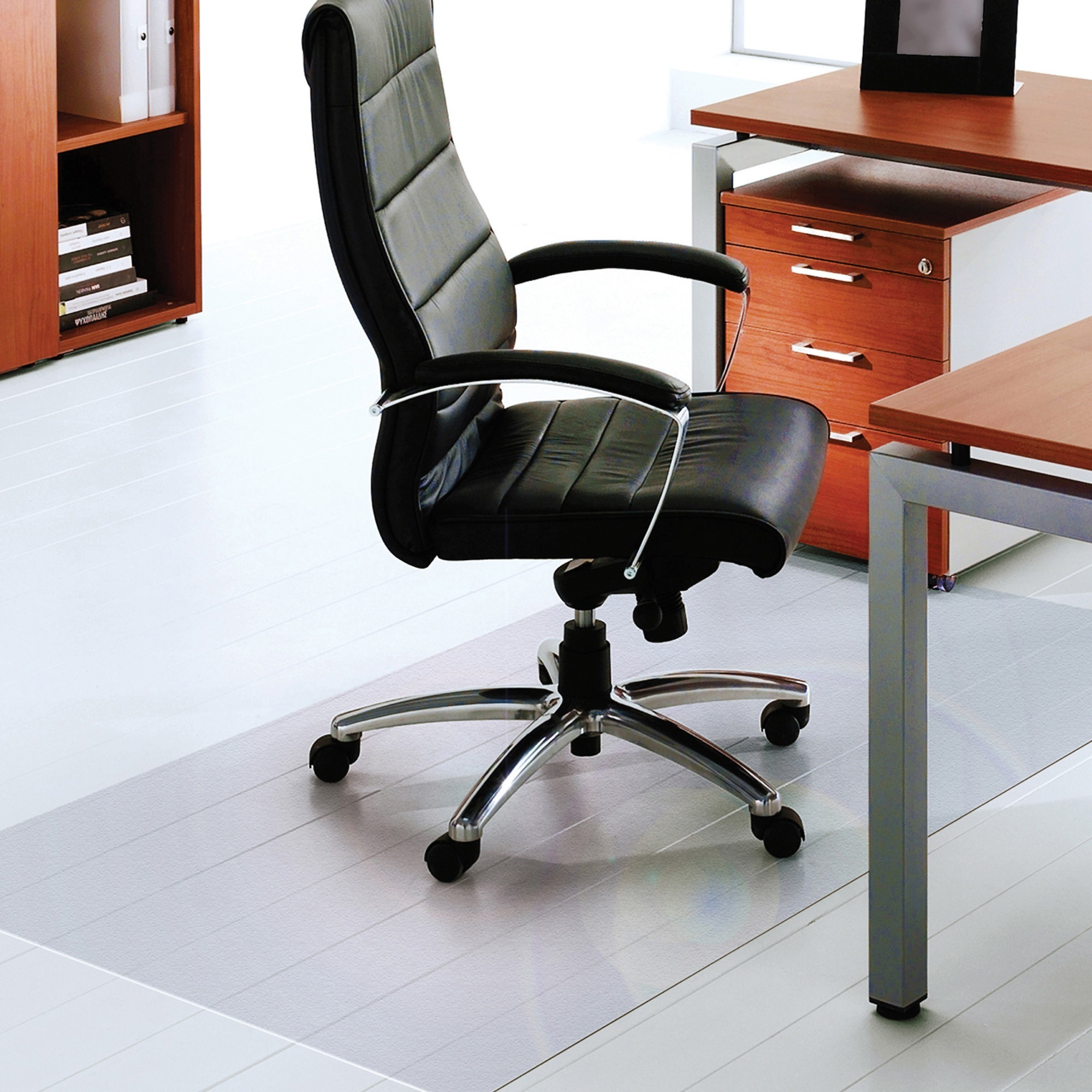Cleartex Hard Floor L Protection Chairmat Home Office 60 1524 Mm Length X Width 75 Mil 1 91 Thickness
