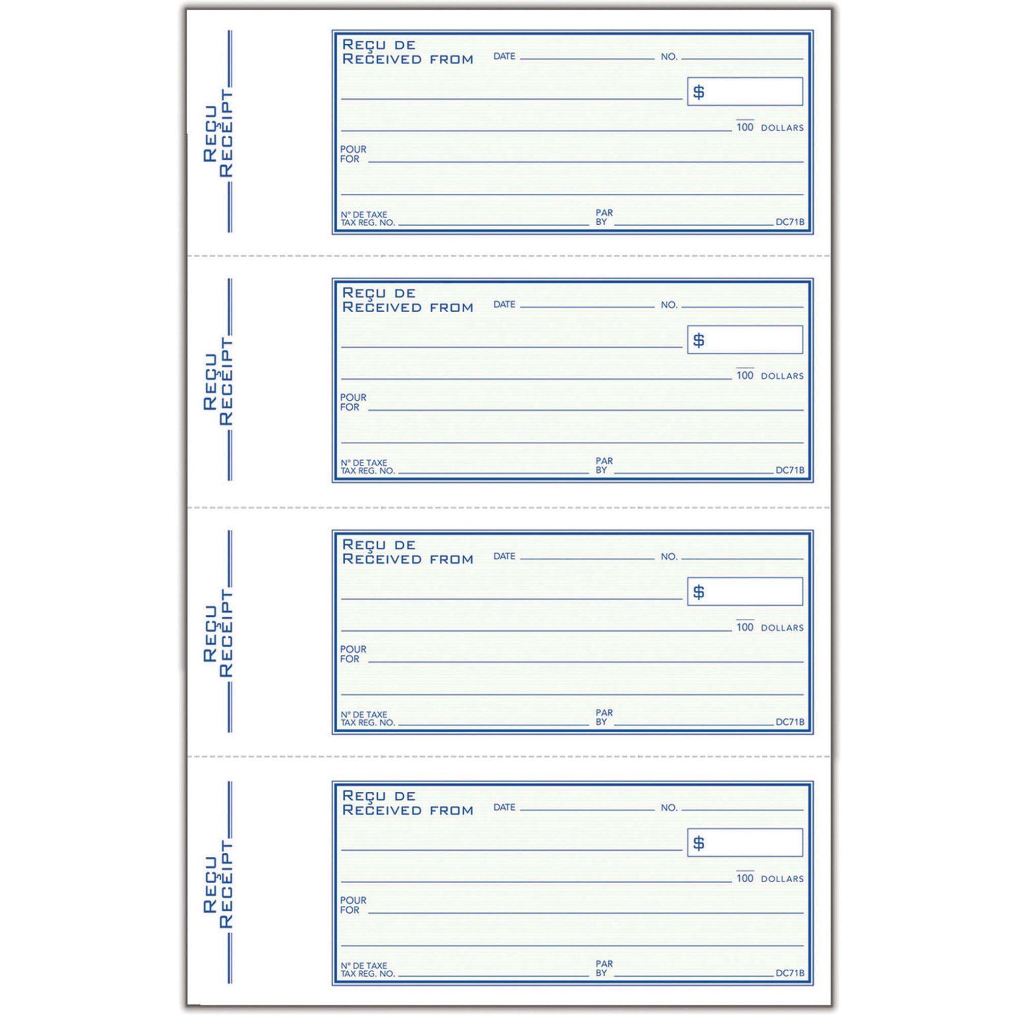 2-Pack Sales Receipt Book Carbonless Duplicate Rent Money Invoice Organizer Cash