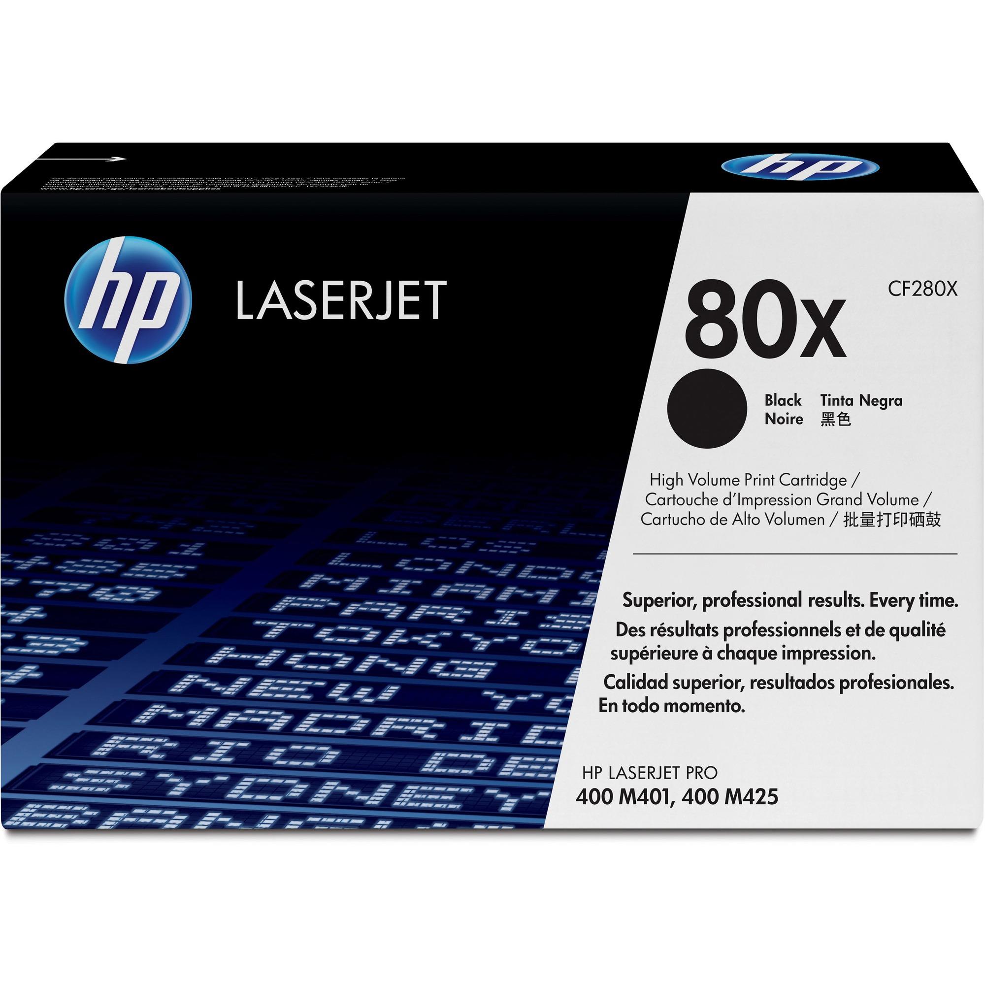 HP 80X Toner Cartridge - Black - Laser - 6900 Page - 1 Pack