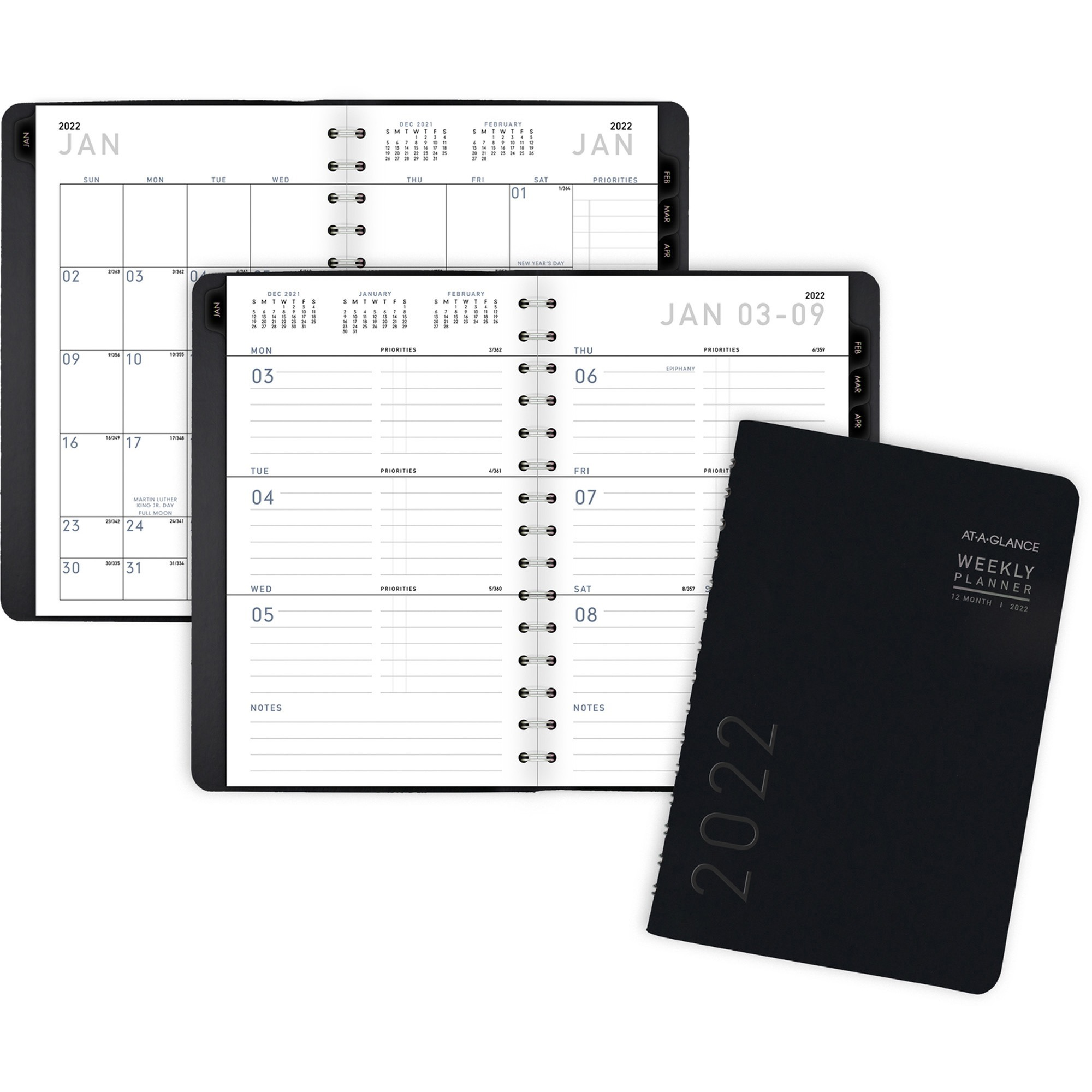 At-A-Glance Contemporary Weekly/Monthly Planner - Yes - Weekly, Monthly - 1 Year - January 2020 till December 2020 - 1 Week, 1 Month Double Page Layout - 4 7/8