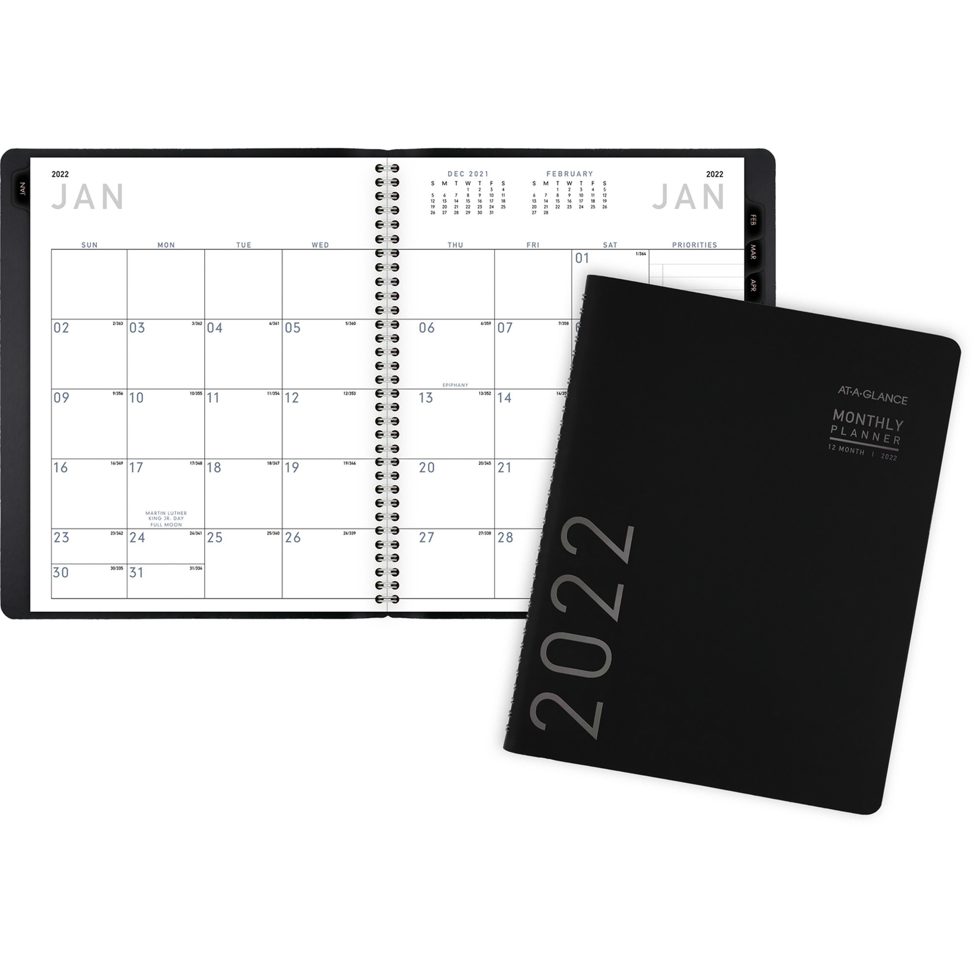 At-A-Glance Contemporary Monthly Planner - Yes - Monthly - 1 Year - January 2020 till December 2020 - 1 Month Double Page Layout - 6 7/8