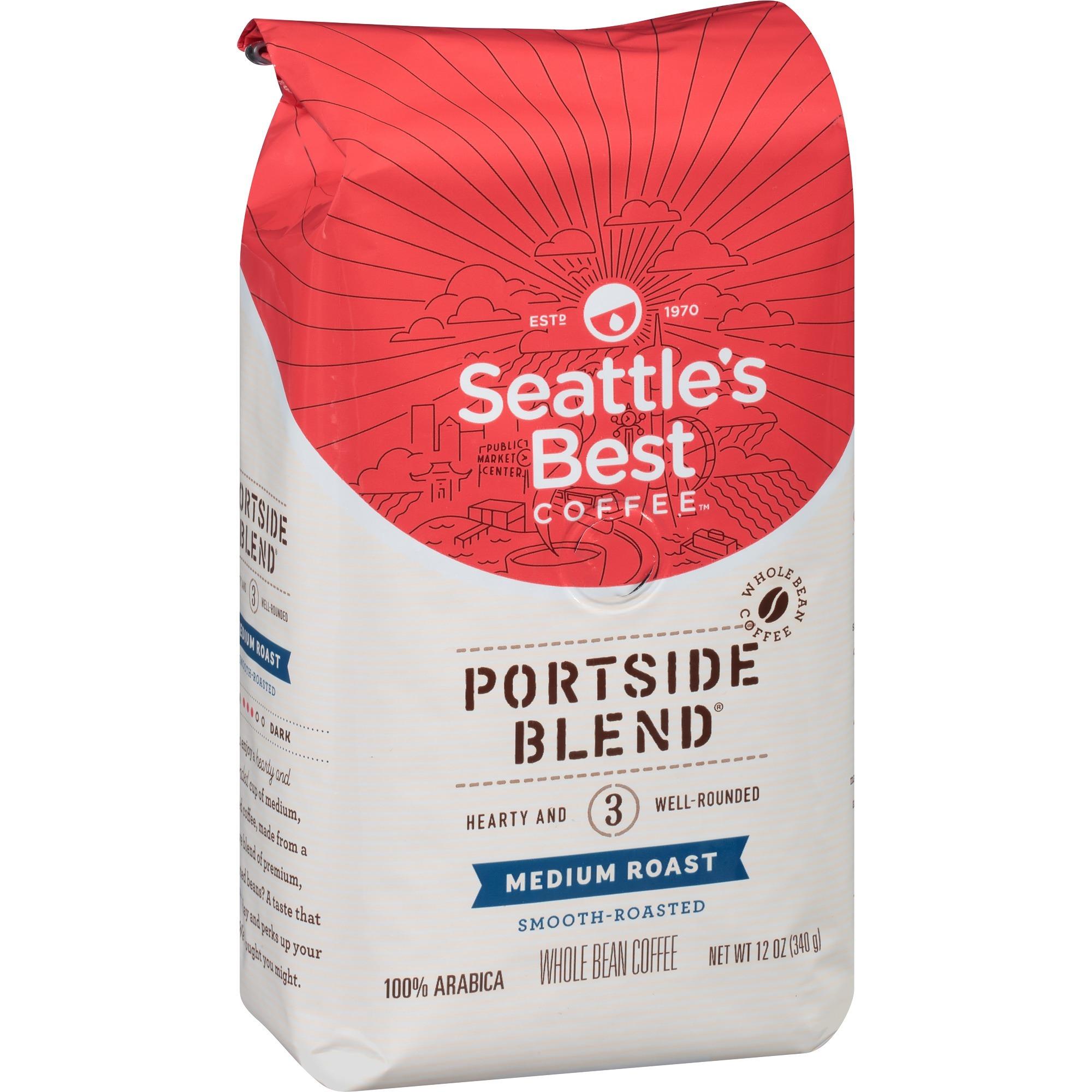 Seattles Best Coffee, Llc Seattles Best Coffee Portside Blend Whole Bean  Coffee - Level 3 - Regular - Nutty - Medium - 12 Oz - 1 Each