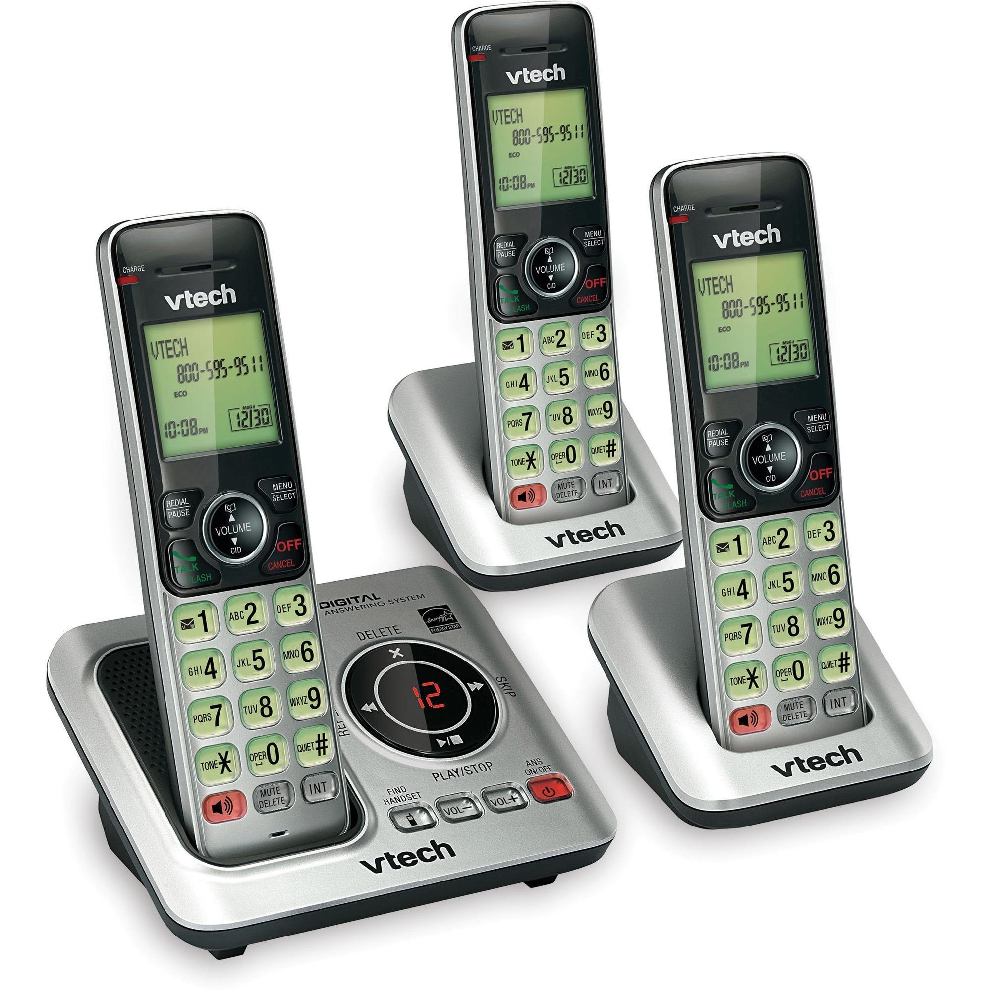VTech CS6629-3 DECT 6.0 Expandable Cordless Phone