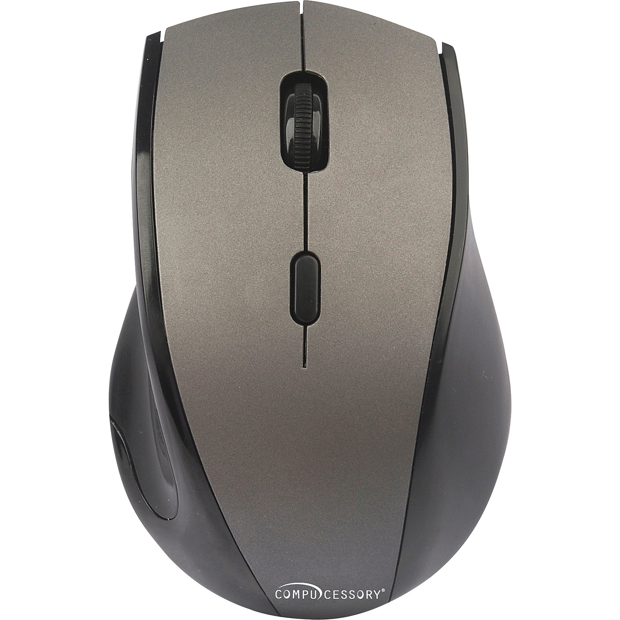 Compucessory VTrack 5-button Wireless Mouse - V-Track - Wireless - Radio  Frequency - Gray - 2000 dpi - Tilt Wheel - 6 Button(s)