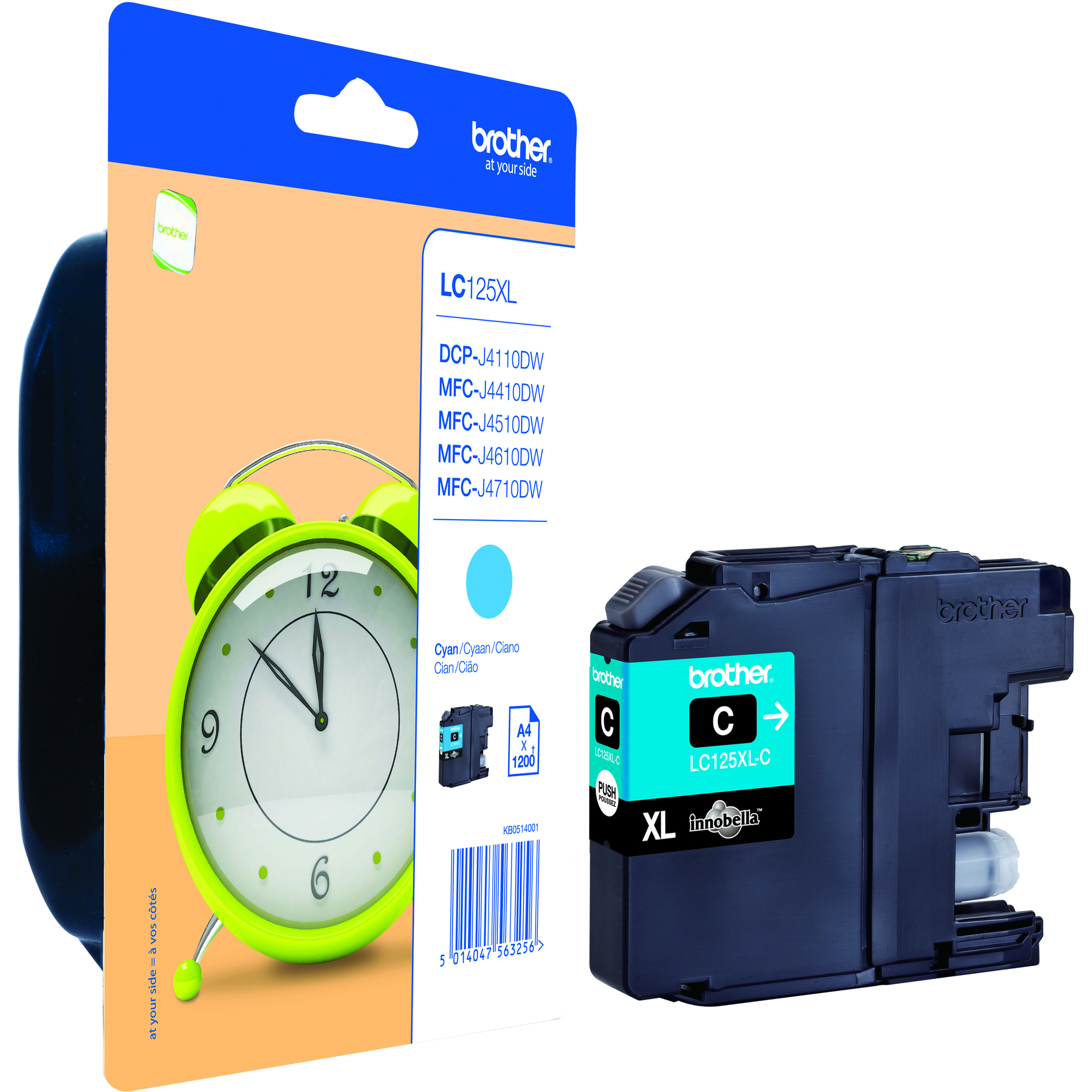Brother LC125XLC Ink Cartridge - Cyan - Inkjet - Super High Yield - 1200 Page