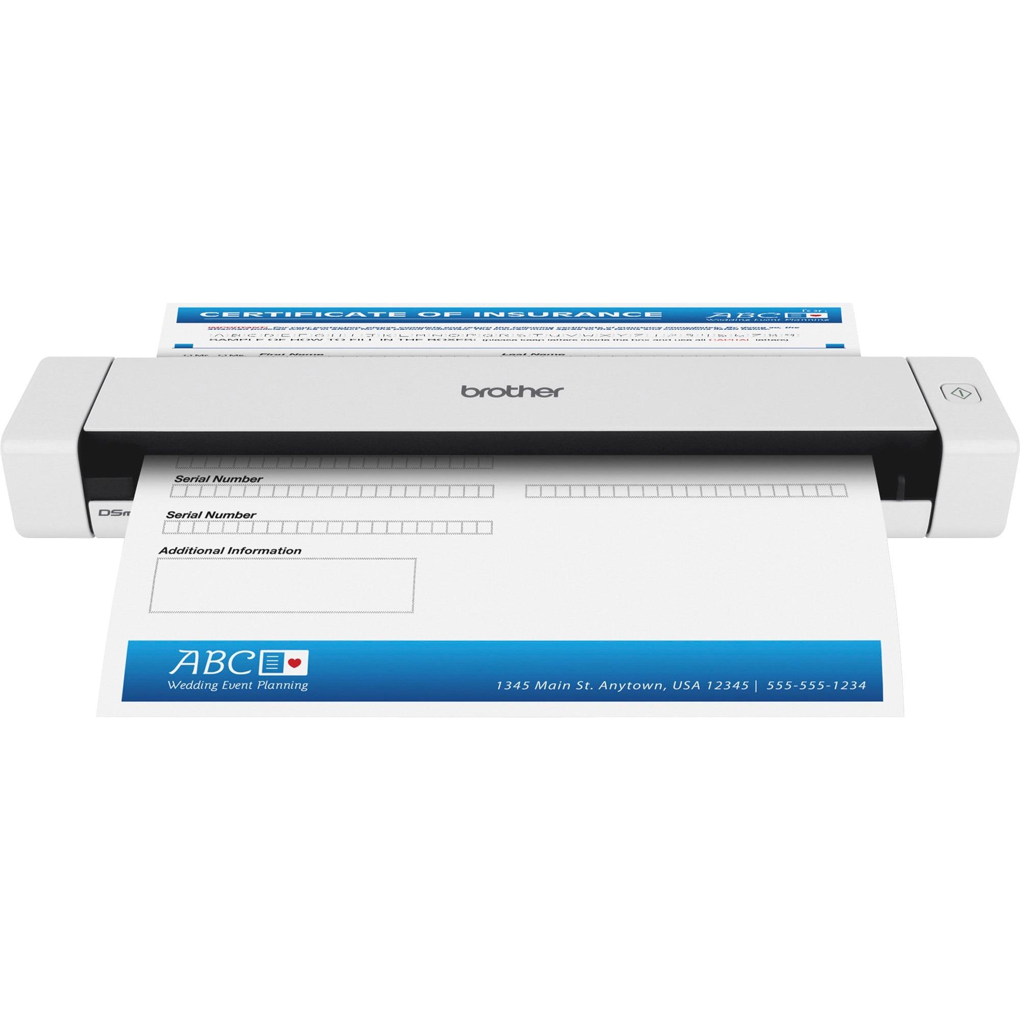 Brother DSmobile DS-620 - Sheetfed Mobile Scanner - Mobile Scanner - 600  dpi x 600 dpi - USB 2 0 - 24-bit color