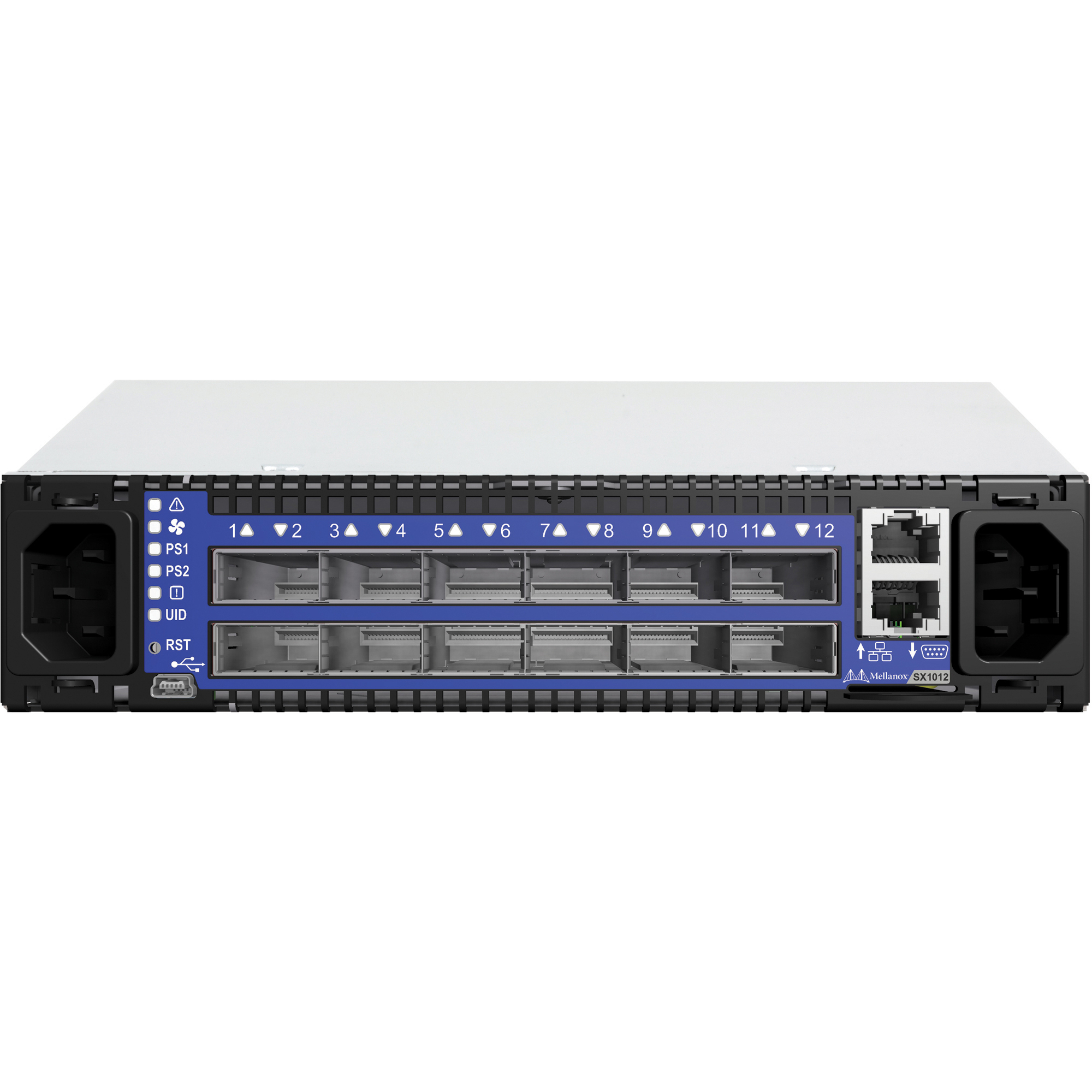 Mellanox SwitchX SX1012 Manageable Layer 3 Switch - 3 Layer Supported - 1U High - Rack-mountable