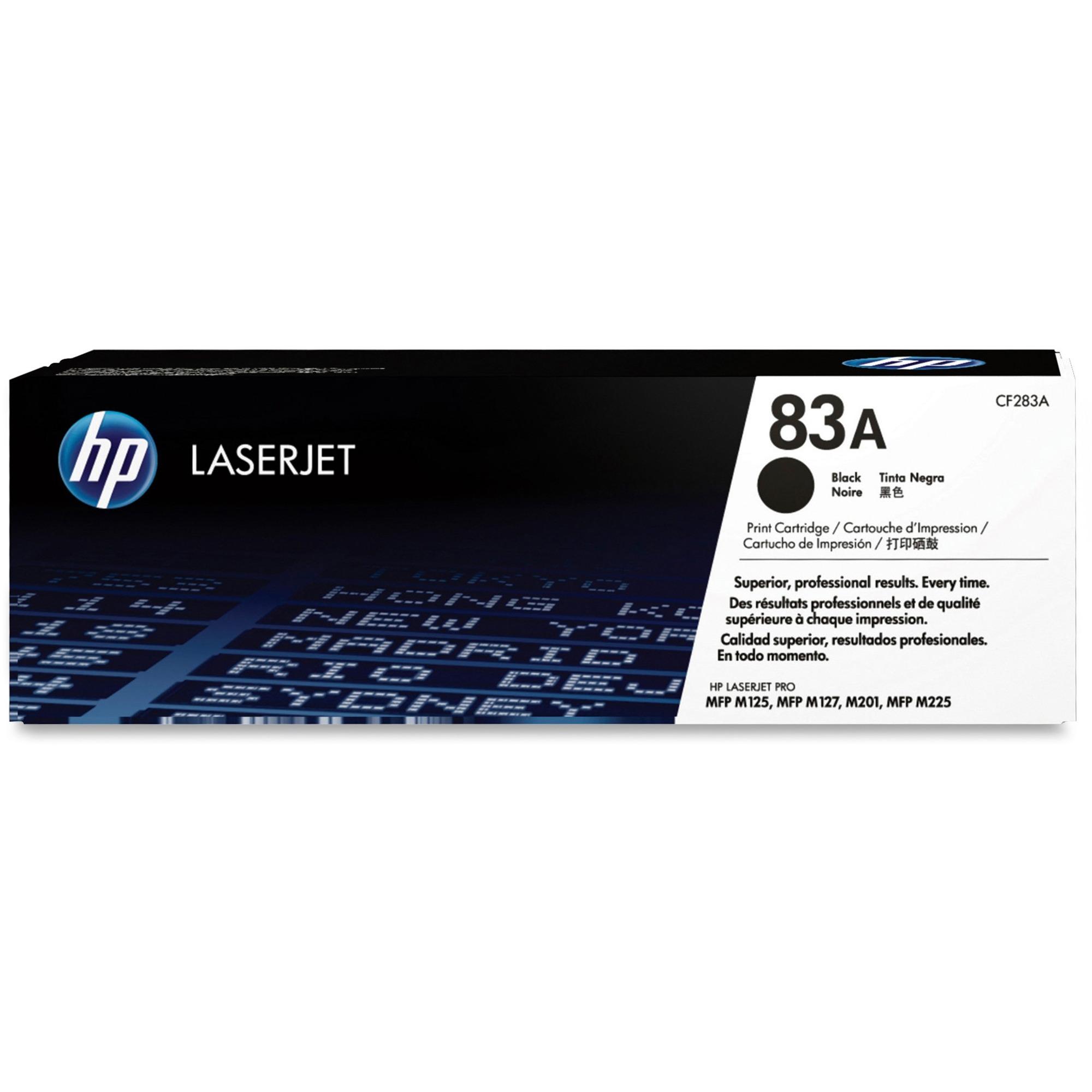 HP 83A Original Toner Cartridge - Single Pack - Laser - 1500 Pages - Black  - 1 Each