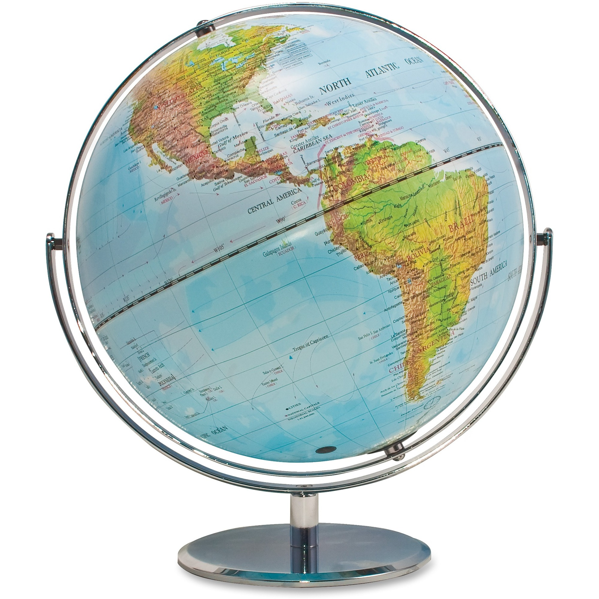 Advantus physicalpolitical world globe madill the office company advantus physicalpolitical world globe world 12 diameter gumiabroncs Images