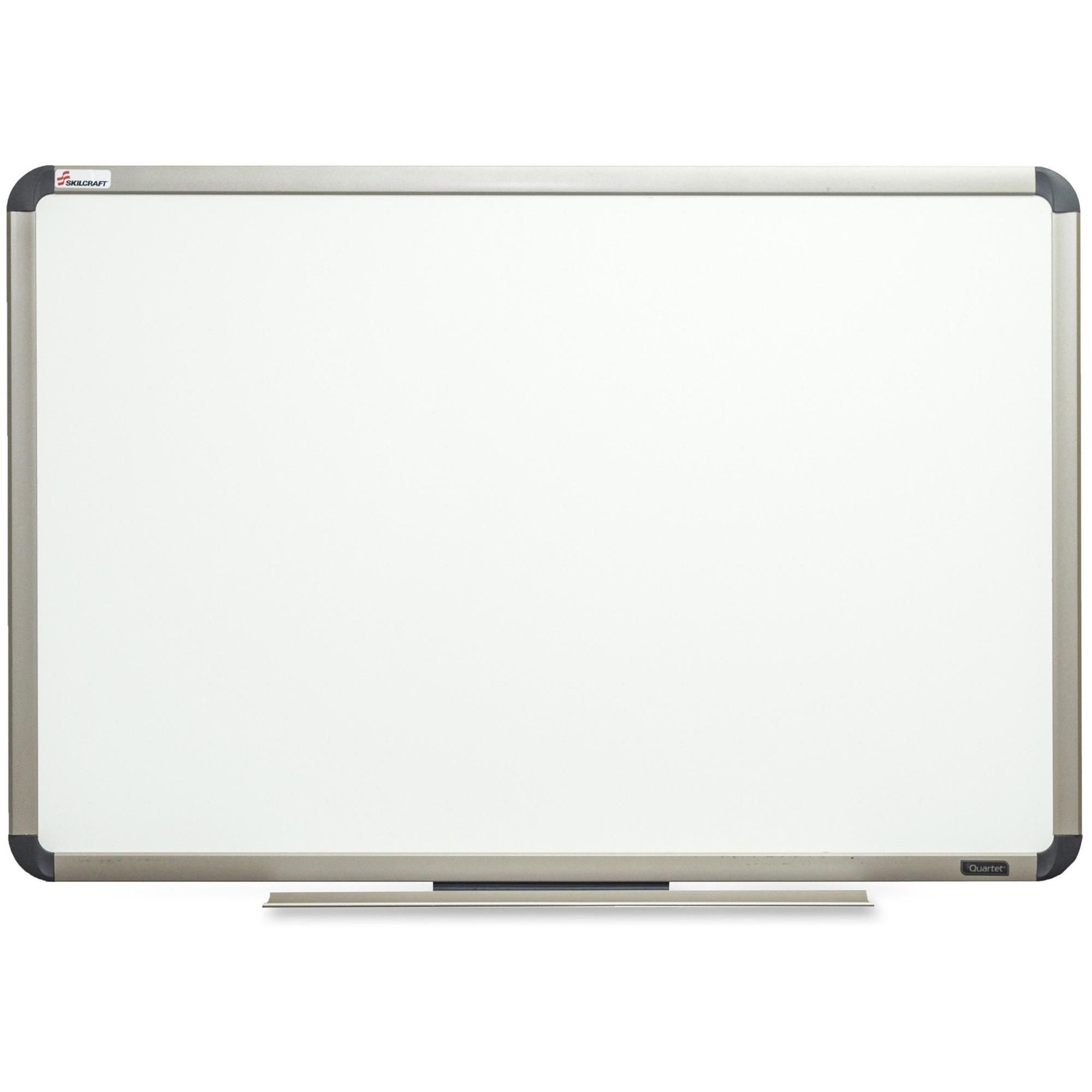 SKILCRAFT Aluminum Frame Total Erase White Board - 36