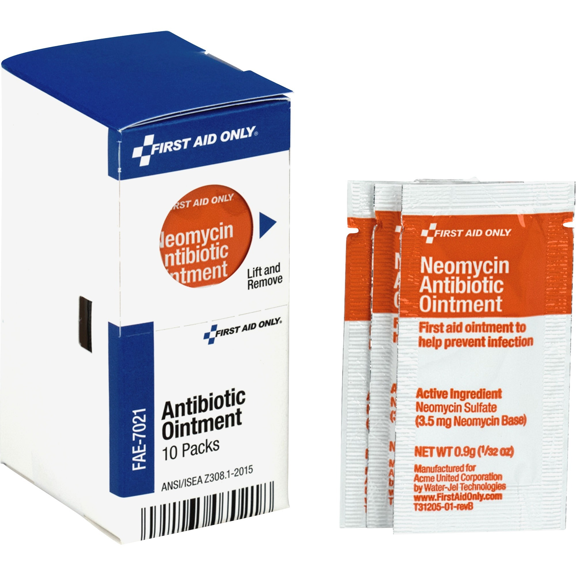First Aid Only, Inc First Aid Only Antibiotic Ointment - For Cut, Scrape,  Burn - 10 / Box