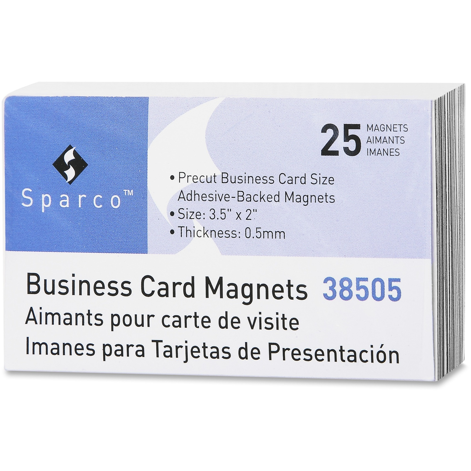 Sparco 38505 business card magnets rectangle adhesive 25 click to enlarge reheart Image collections