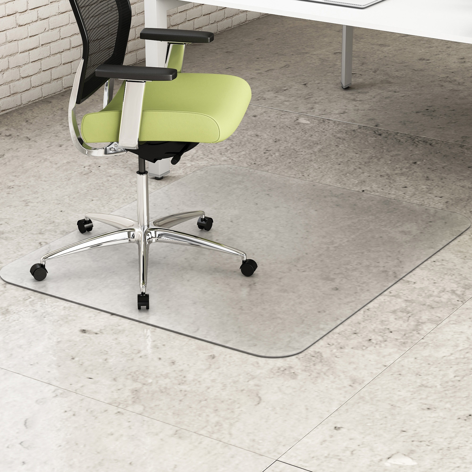 West coast office supplies furniture chairs chair mats deflecto hard floor environmat recycled chairmat hard floor wood floor tile floor 53 134620 mm length x 45 1143 mm width rectangle textured doublecrazyfo Images