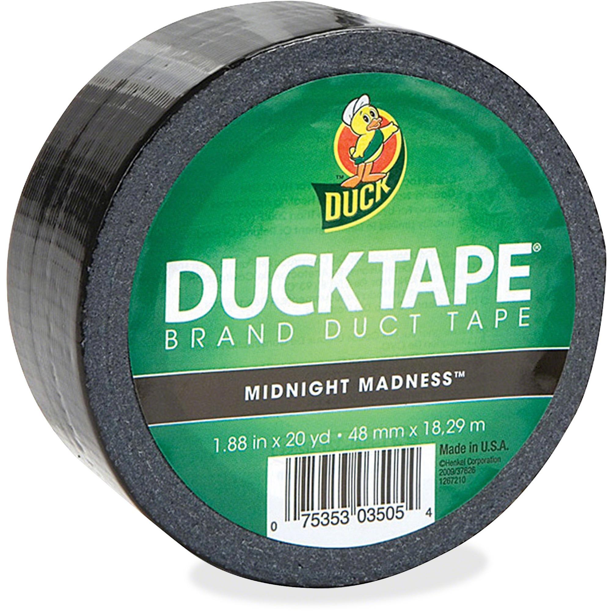 Duck Color Tape Black 1 88 Quot 47 8 Mm Width X 20 Yd