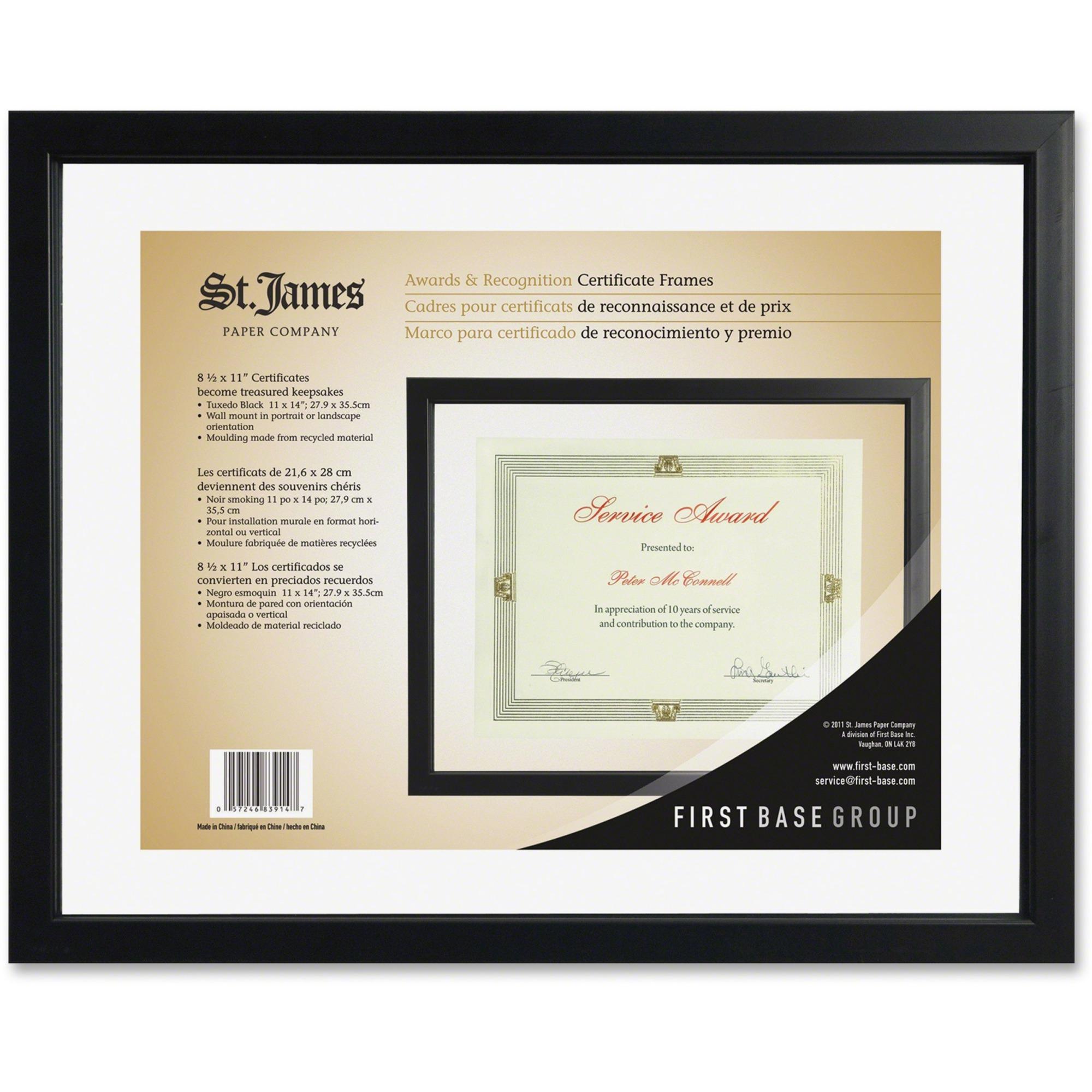 First Base Black Floating Certificate Frame - 15\