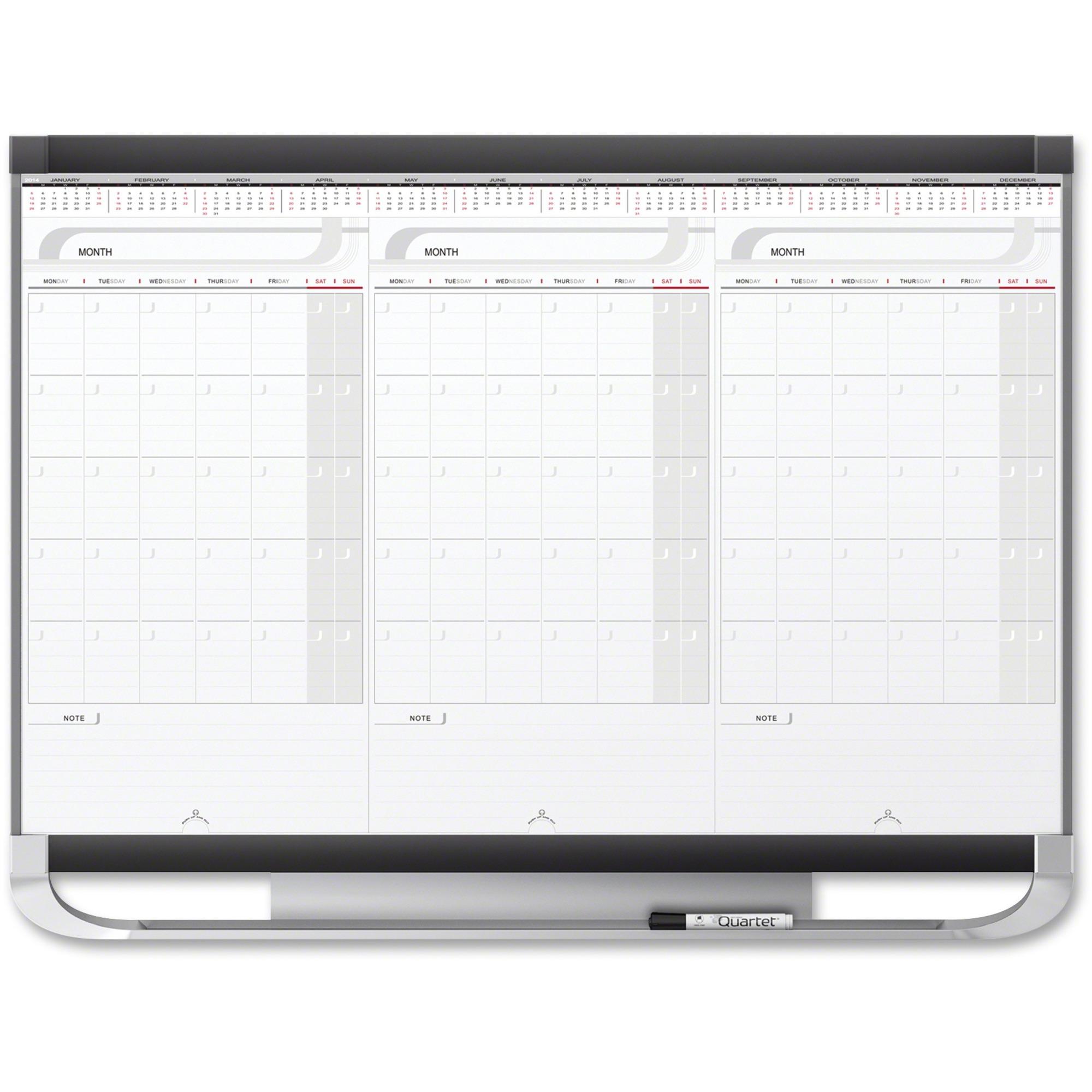 Quartet Prestige Modular 3 Month Erase Calendar Qrt20127
