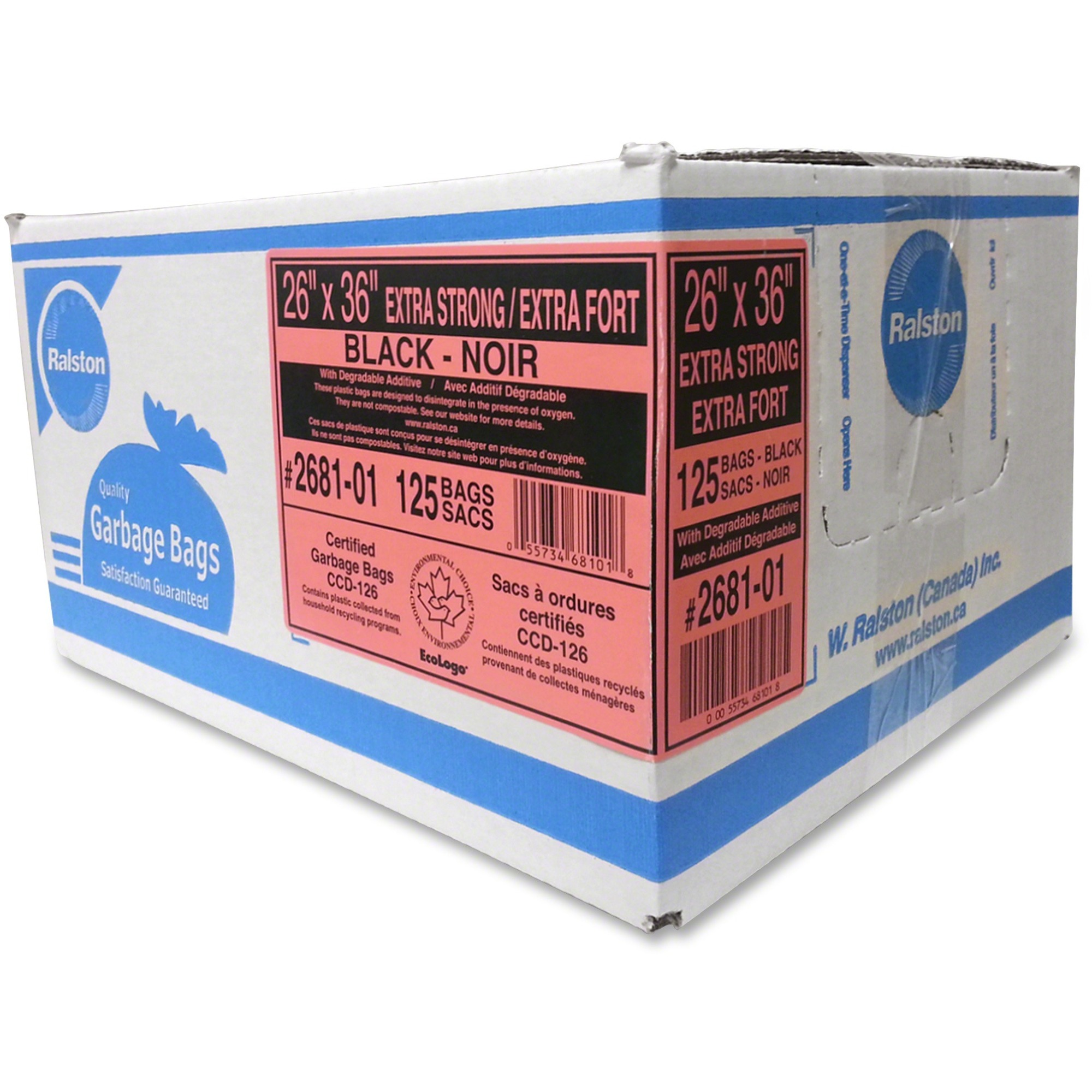 Industrial Clear Garbage Bags Extra Strong 26x36