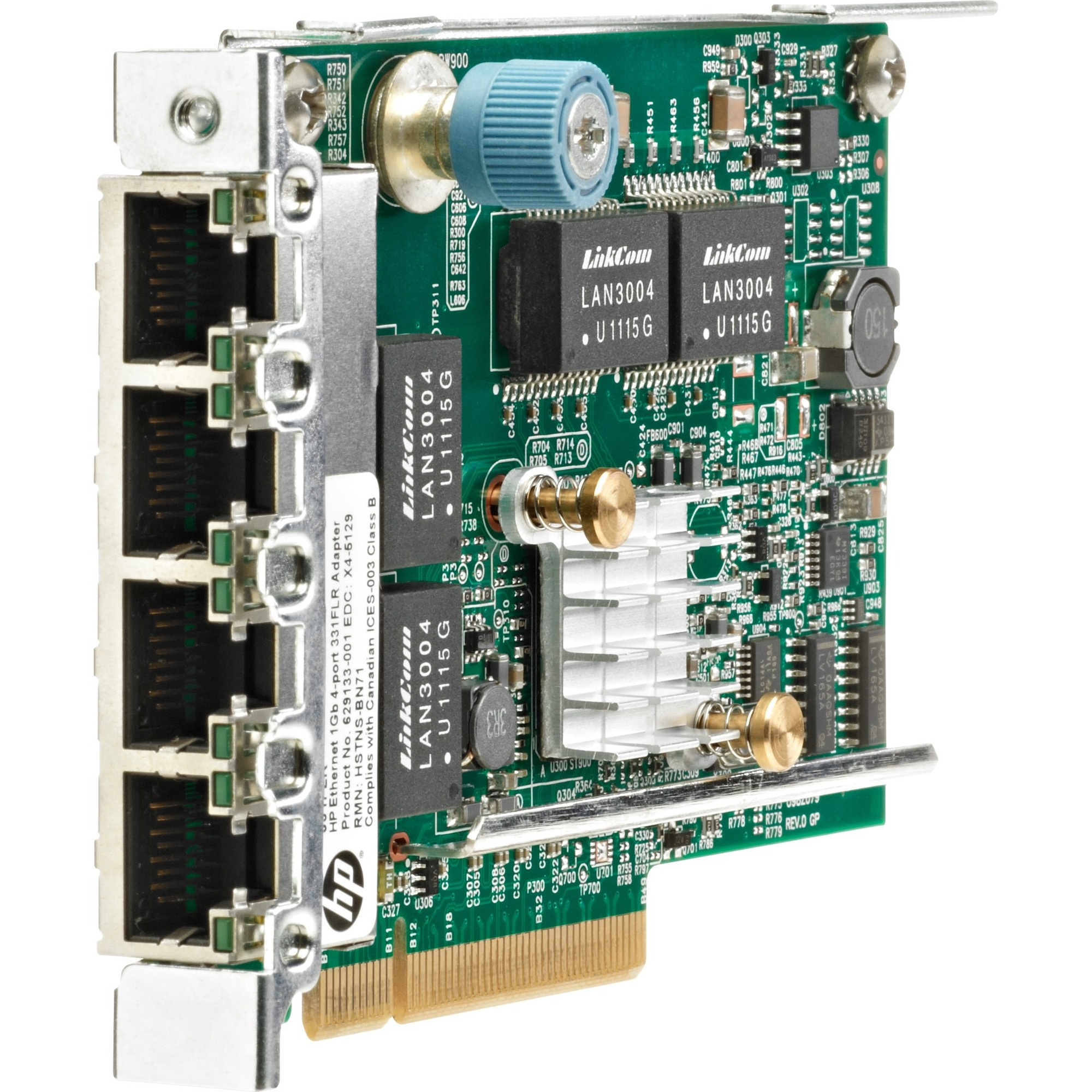 Hp 331flr Gigabit Ethernet Card For Server Pci Express 20 X4 4 Ports Twisted Pair Sound Channel With Game Port