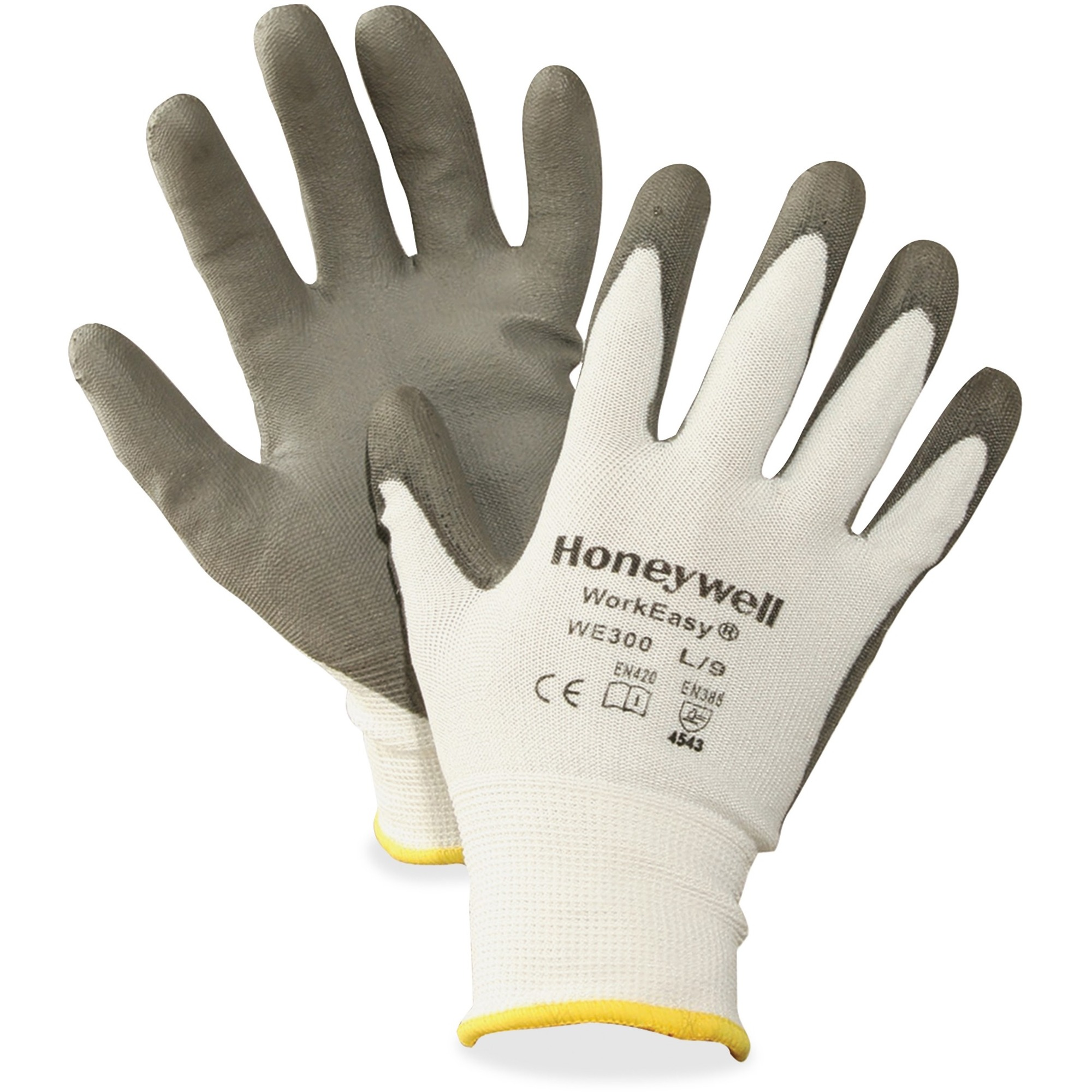 NORTH Workeasy Dyneema Cut Resist Gloves - Polyurethane Coating - X-Large Size - High Performance Polyethylene (HPPE) Liner - Gray, Light Gray - Cut Resistant, Flexible, Abrasion Resistant, Lightweight, Puncture Resistant, Comfortable, Durable, Knitted -