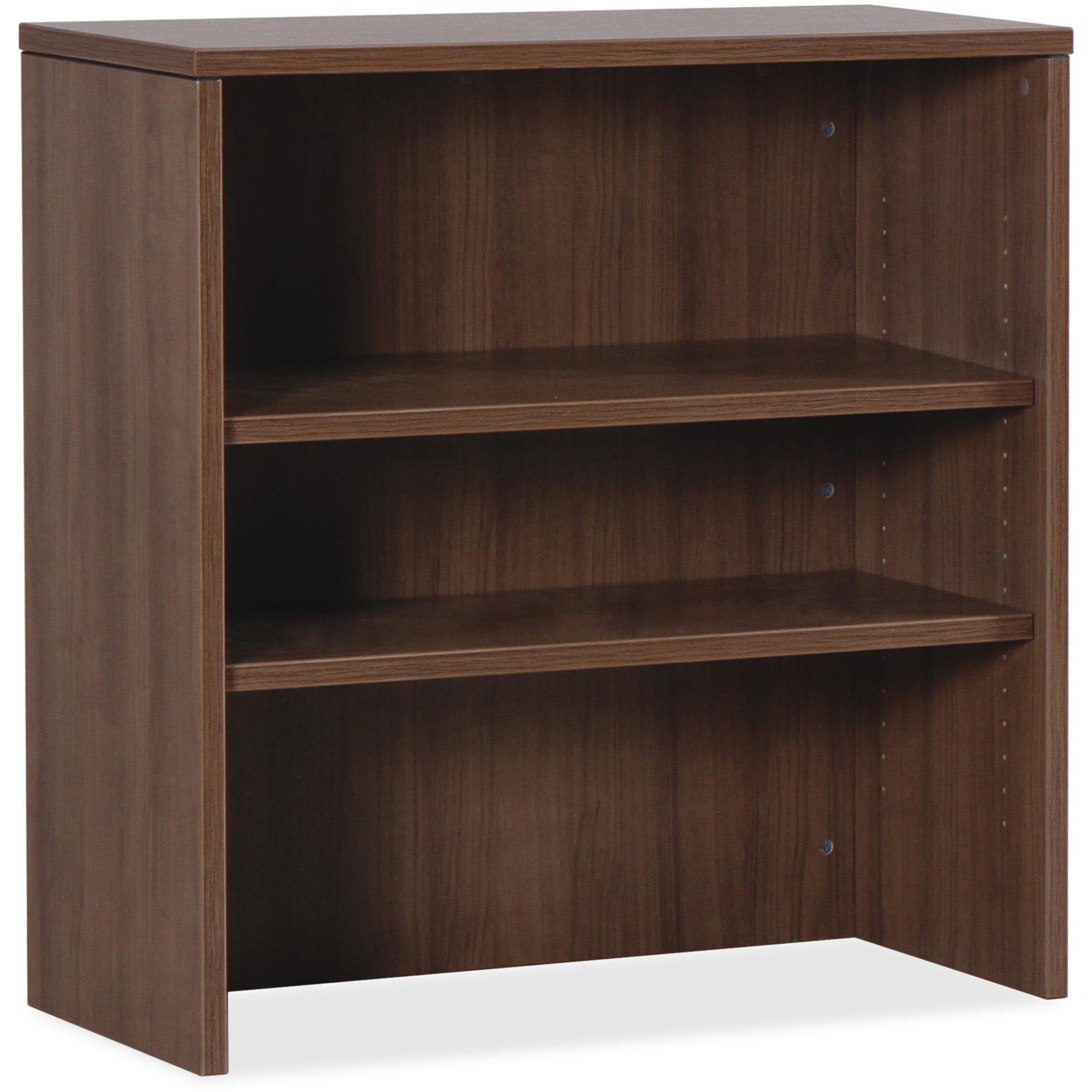 Lorell Essentials Walnut Laminate Stack On Bookshelf