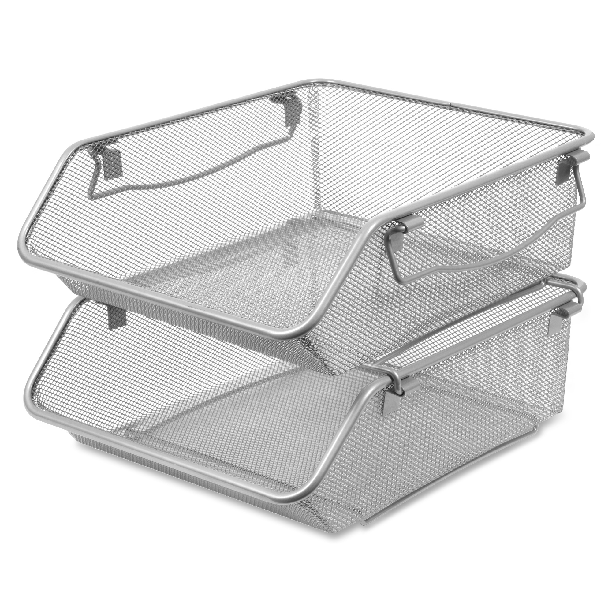 Lorell Mesh Stacking Storage Bin 2 Tier S 5 Height X