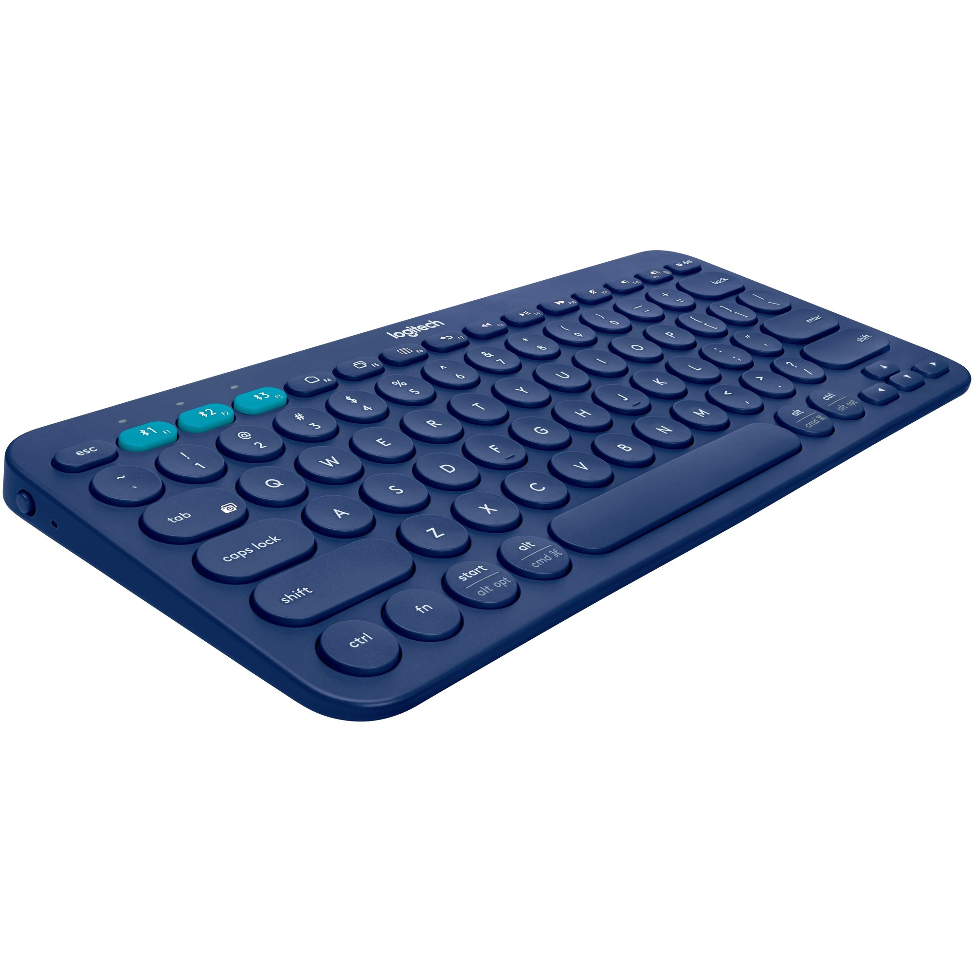 Logitech K380 Keyboard - Wireless Connectivity - Bluetooth - Blue