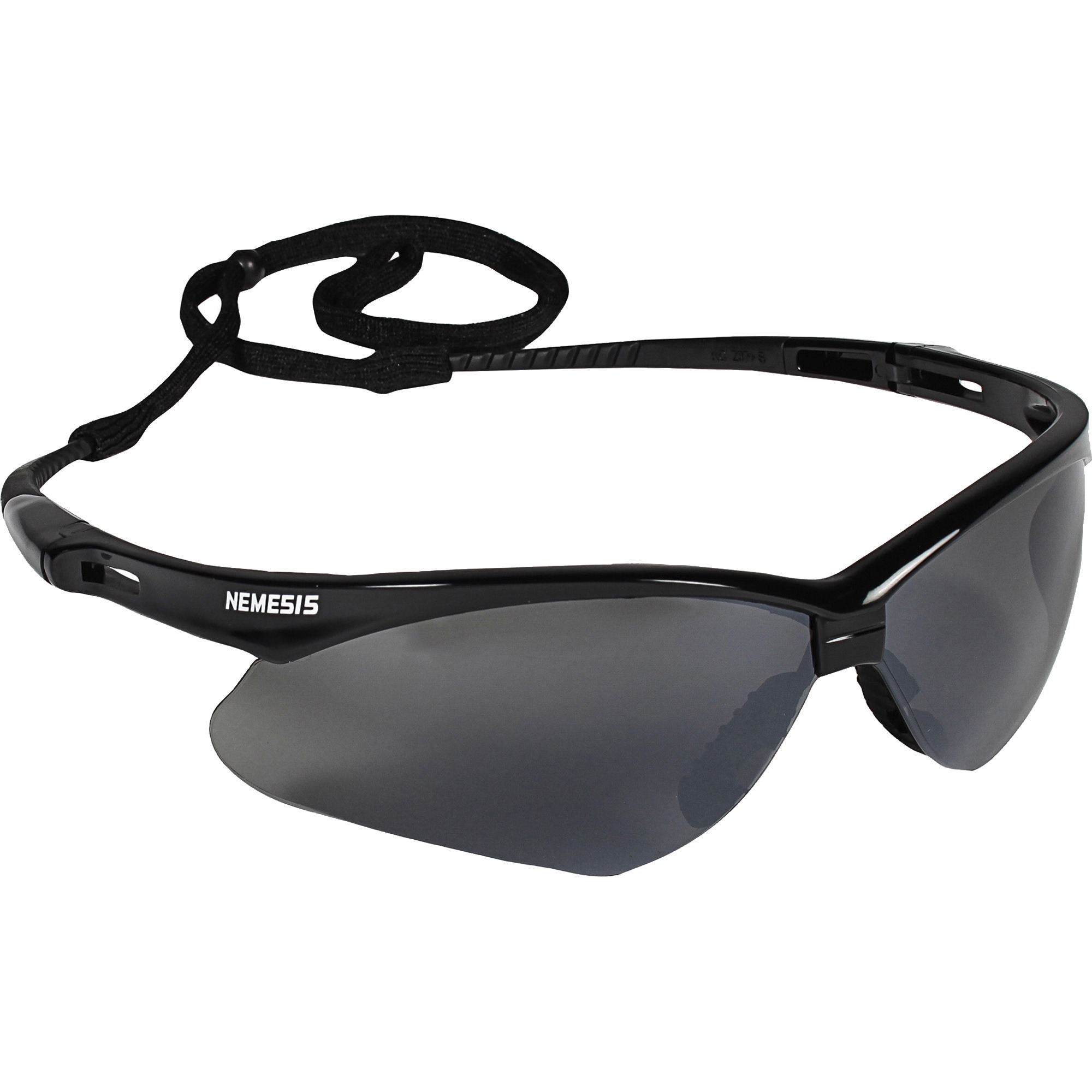 KleenGuard V30 Nemesis Safety Eyewear - Flexible, Lightweight, Comfortable, Scratch Resistant - Ultraviolet Protection - Polycarbonate Lens - Smoke, Black - 12 / Carton