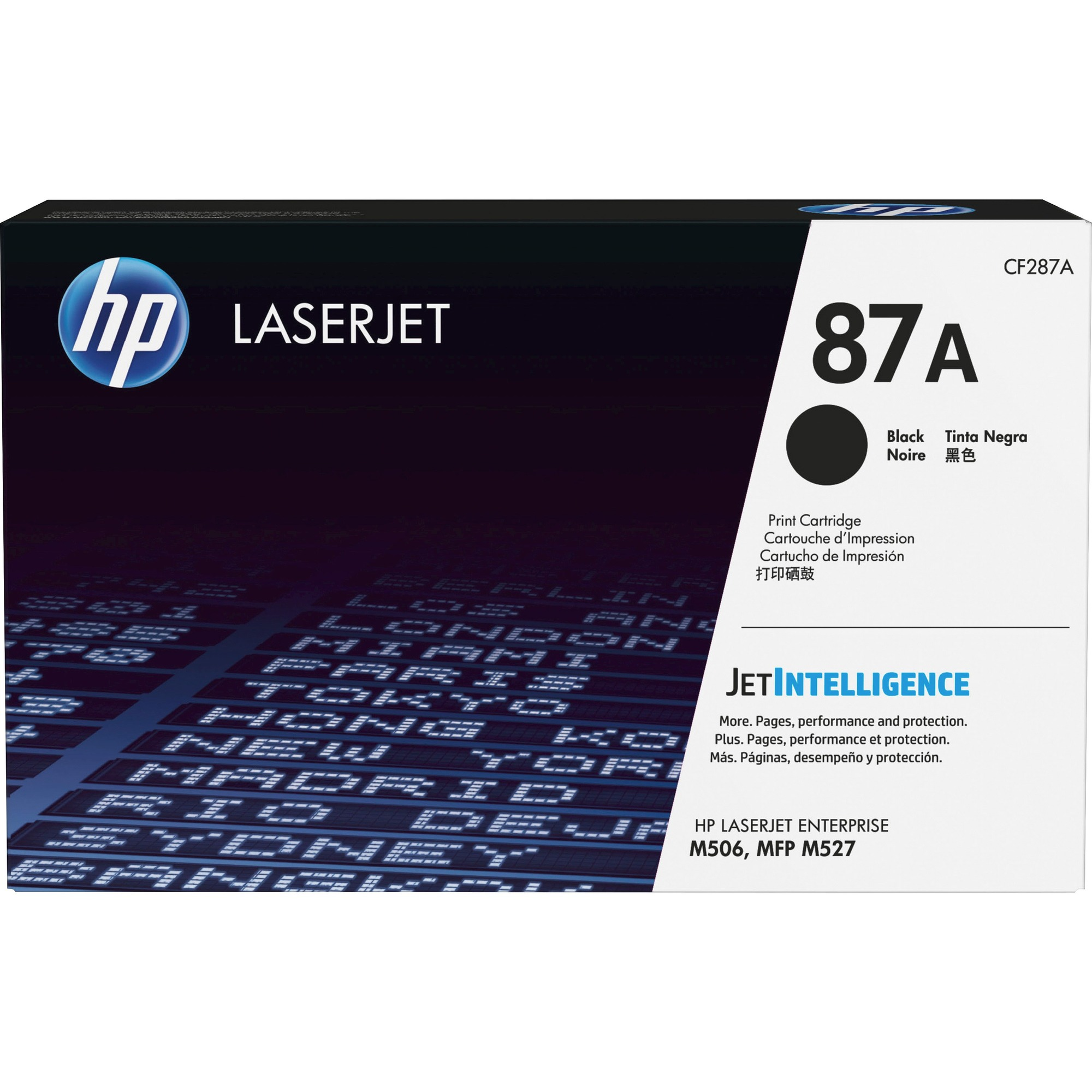 HP 87A Original Toner Cartridge - Black - Laser - 9000 Pages