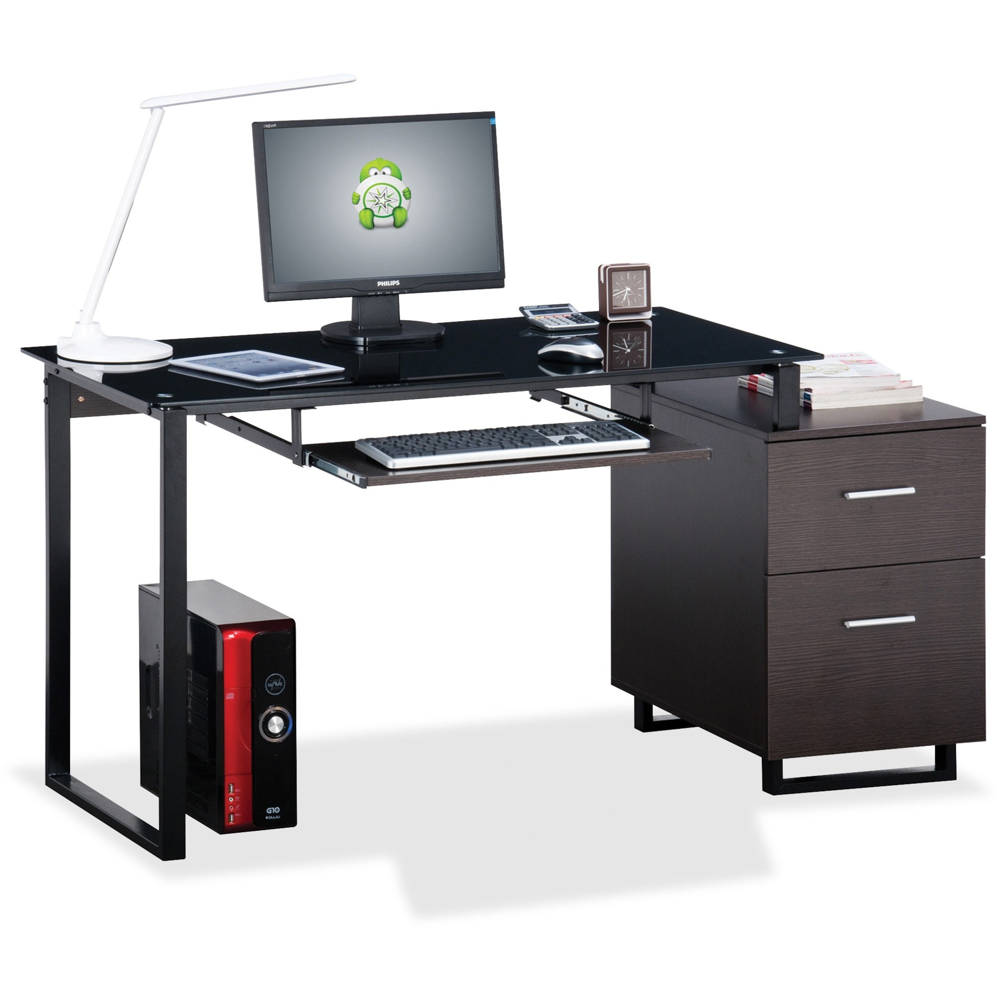 pedestal series desk pinterest single pin ofm products mesa